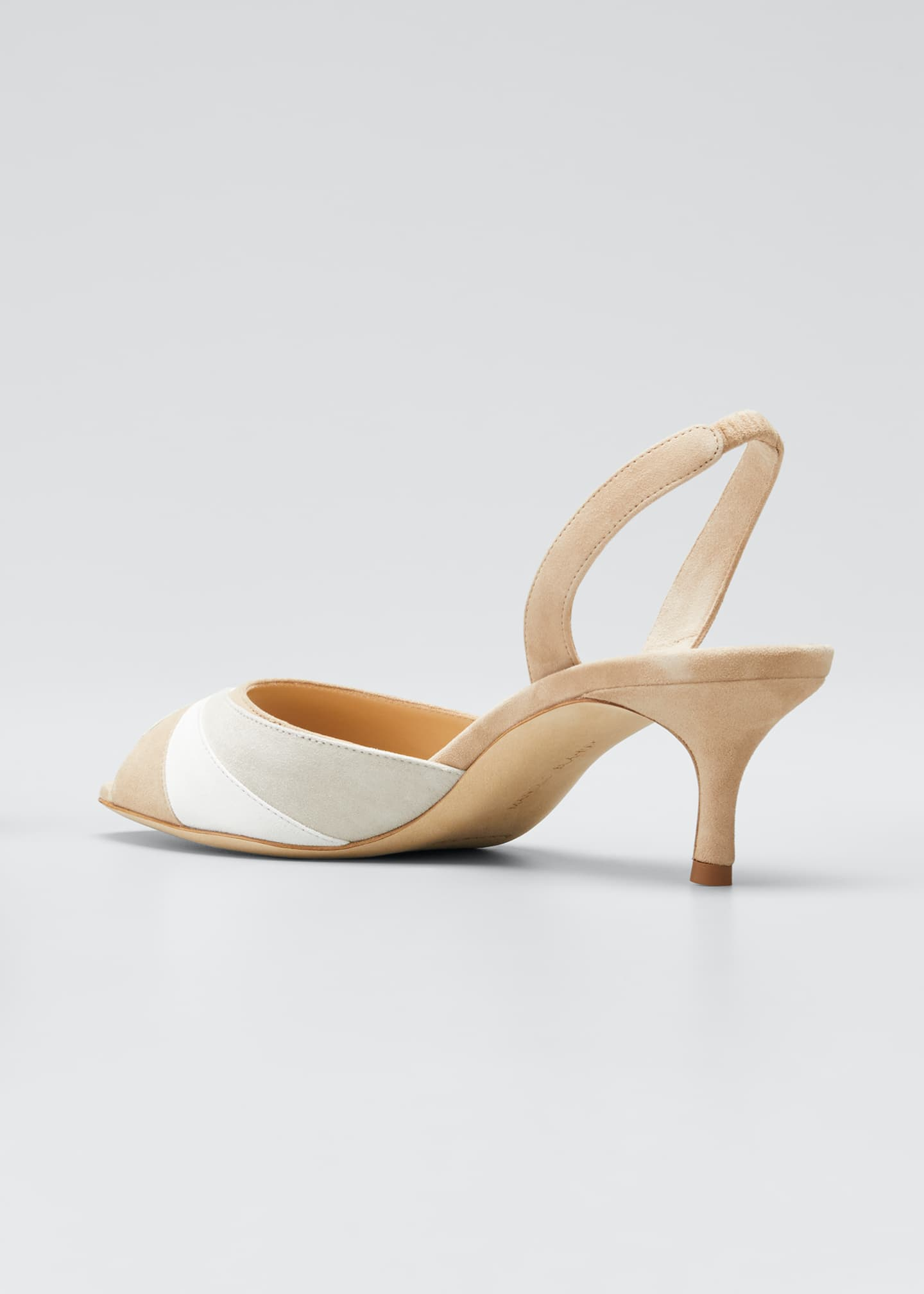Image 2 of 3: Meteora 50mm Tricolor Suede Slingback Sandals