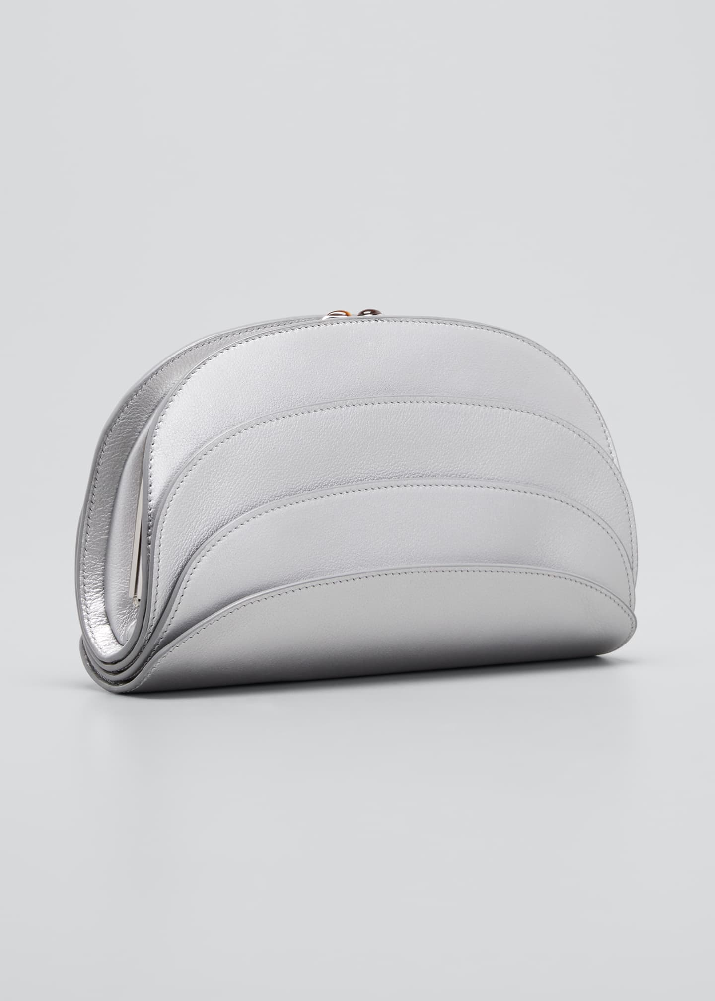 Image 3 of 5: Millefoglie C Leather Clutch Bag