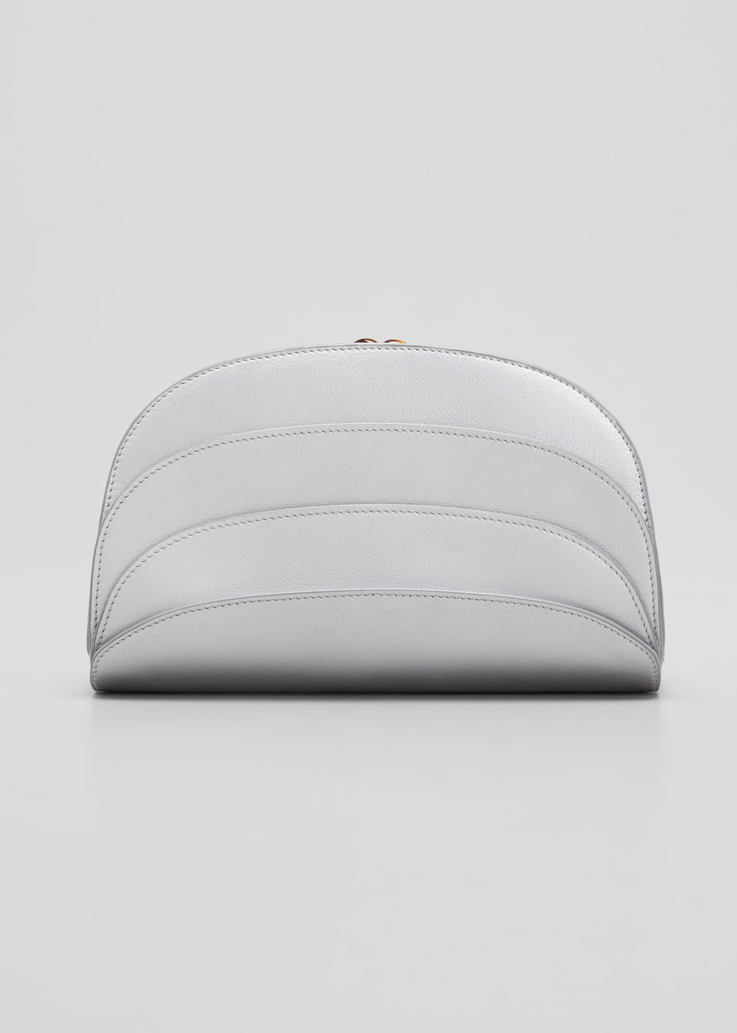 Image 1 of 5: Millefoglie C Leather Clutch Bag