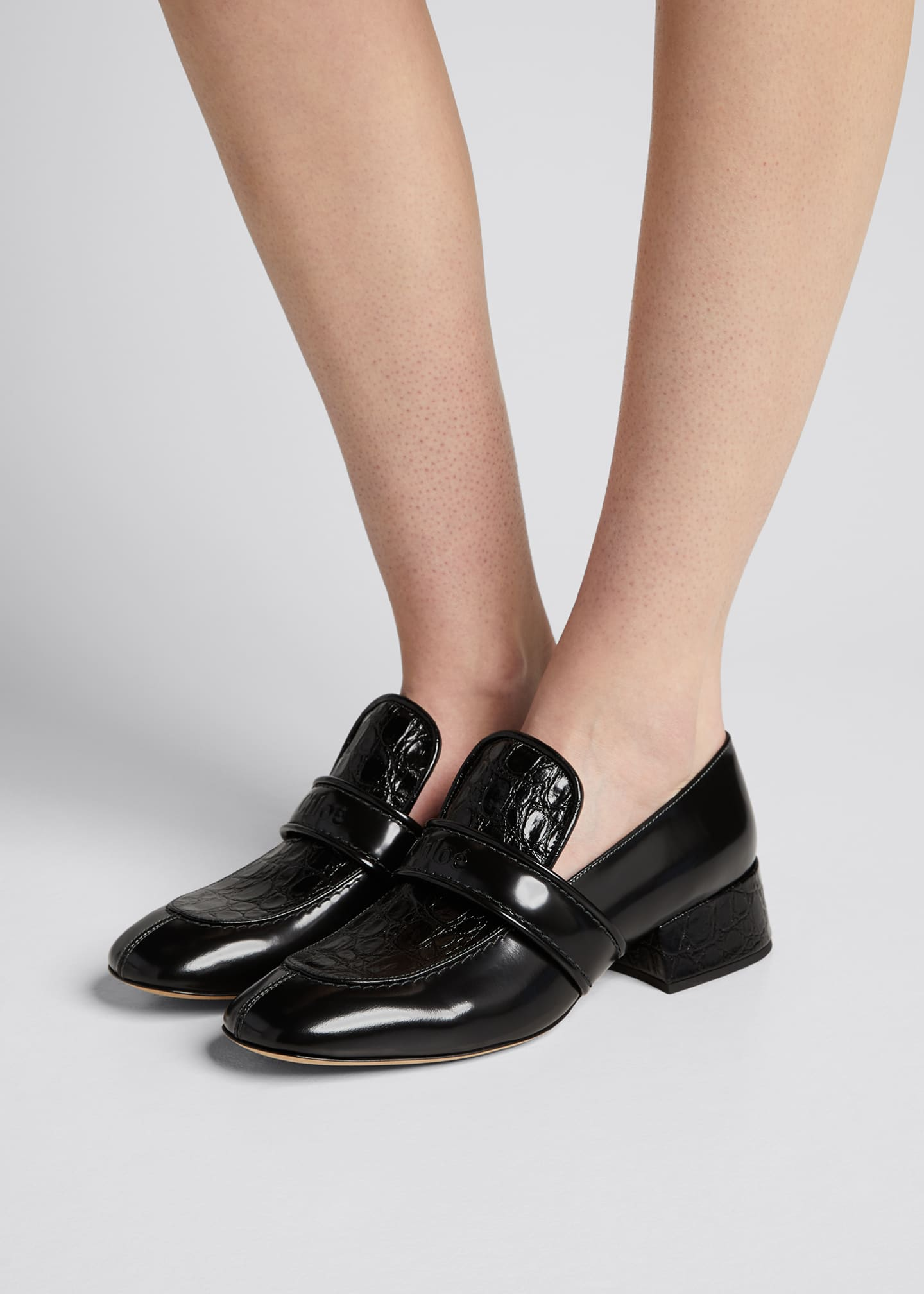 Image 2 of 5: Cheryl Shiny Leather Loafers