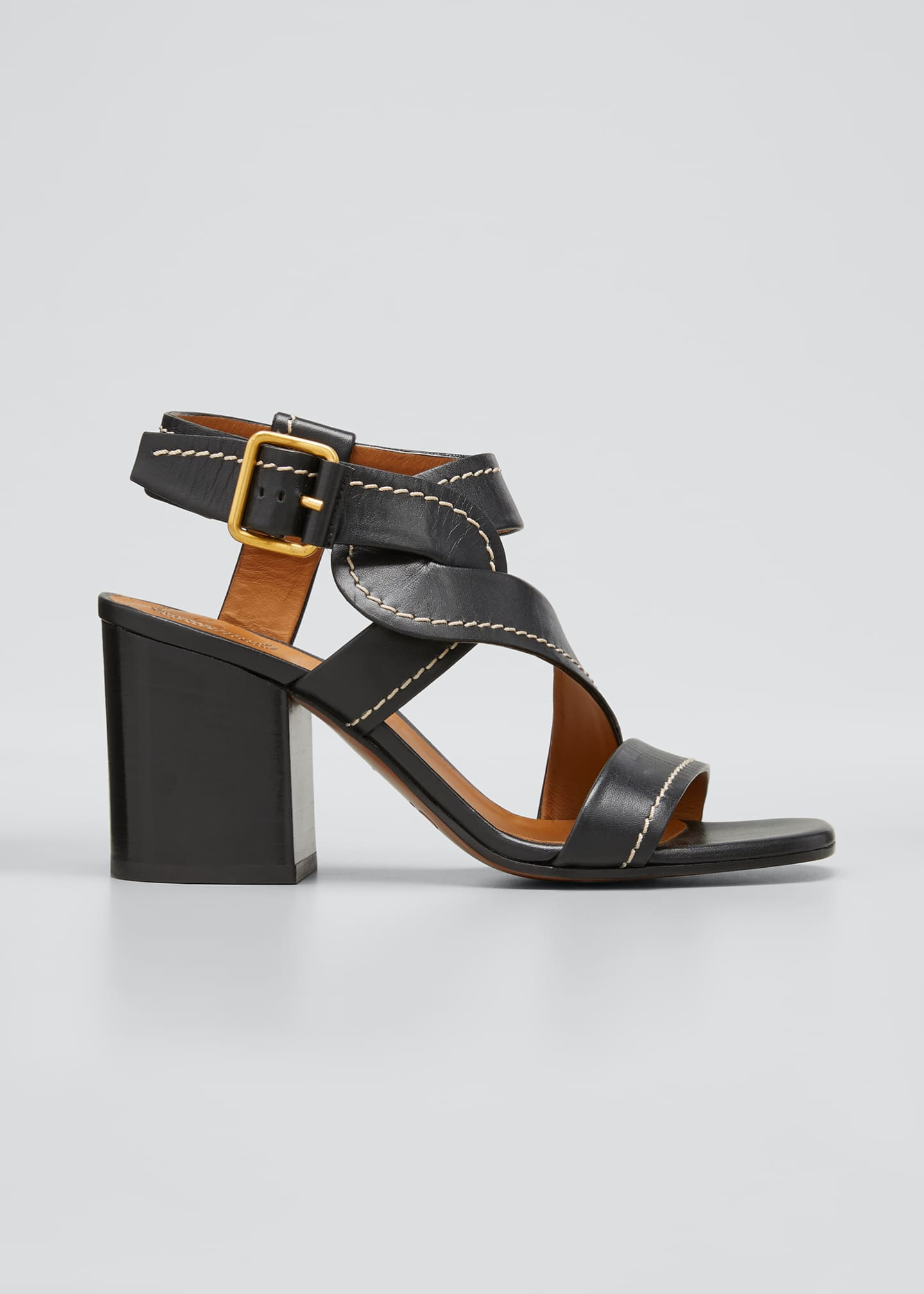 Chloe Candice Twisted Ankle Sandals