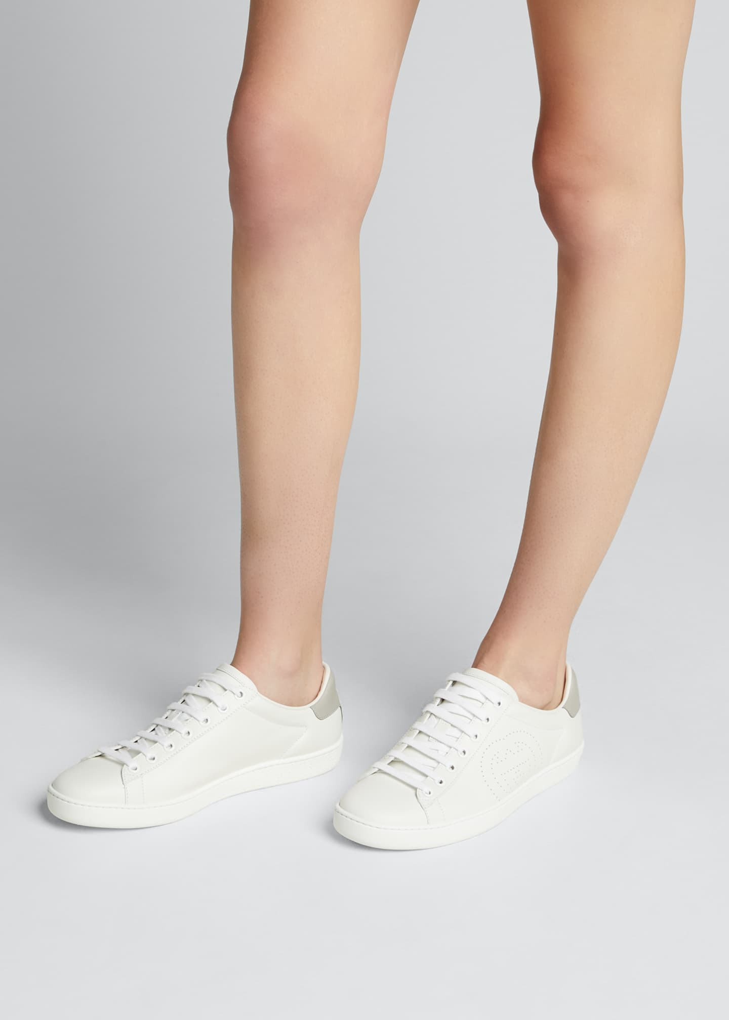 Image 2 of 5: New Ace Perforated Leather Sneakers