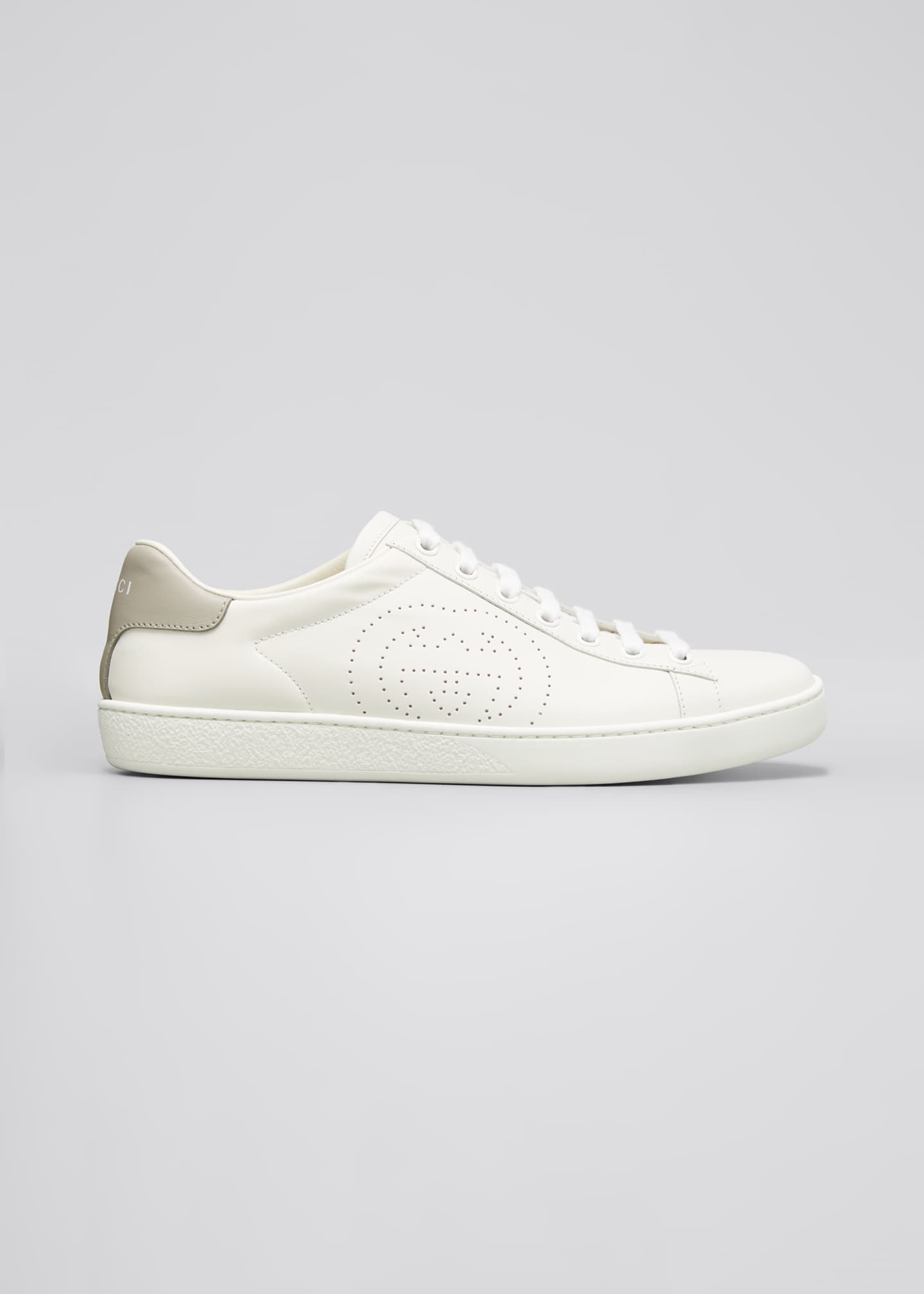 Image 1 of 5: New Ace Perforated Leather Sneakers