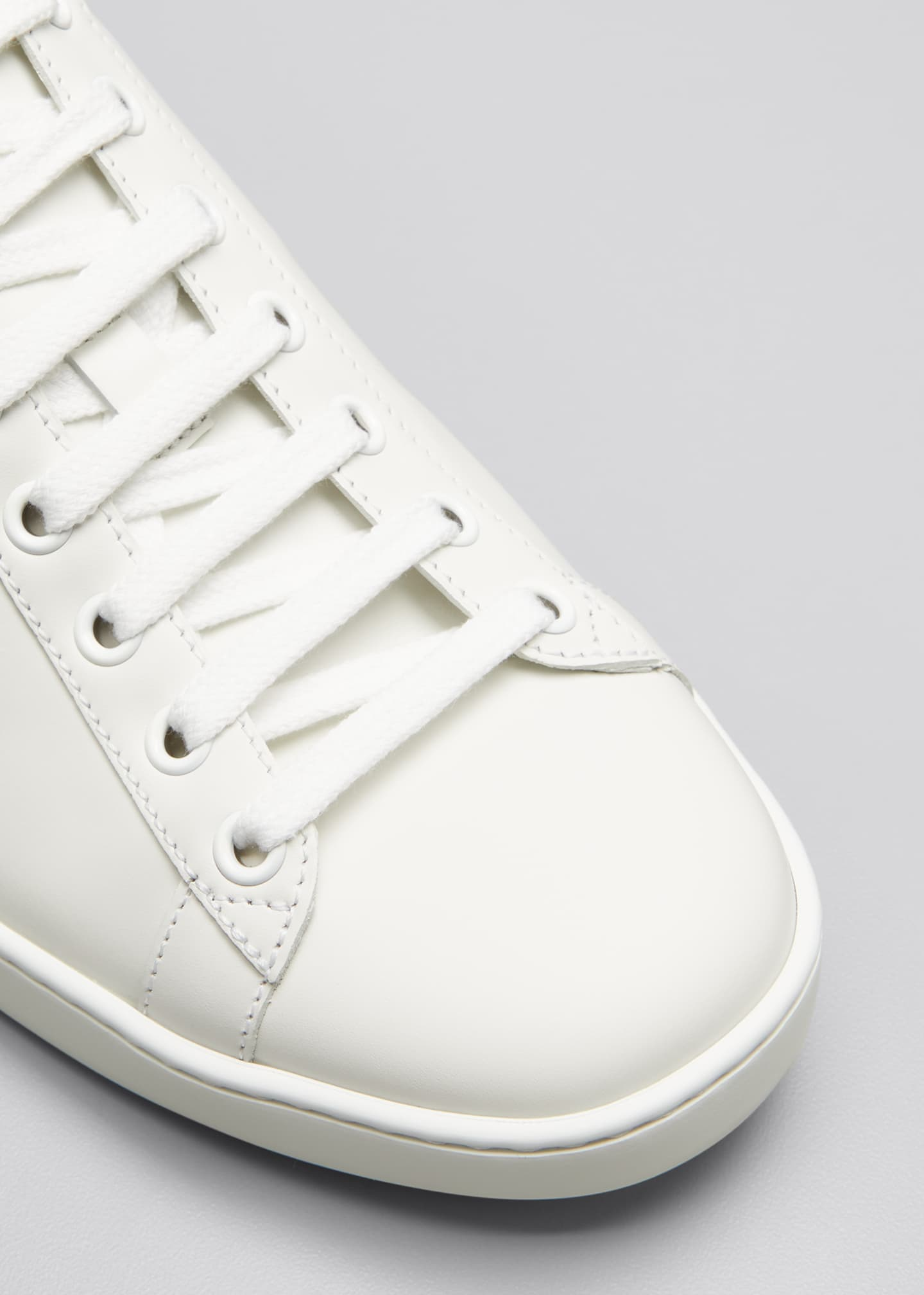 Image 5 of 5: New Ace Perforated Leather Sneakers