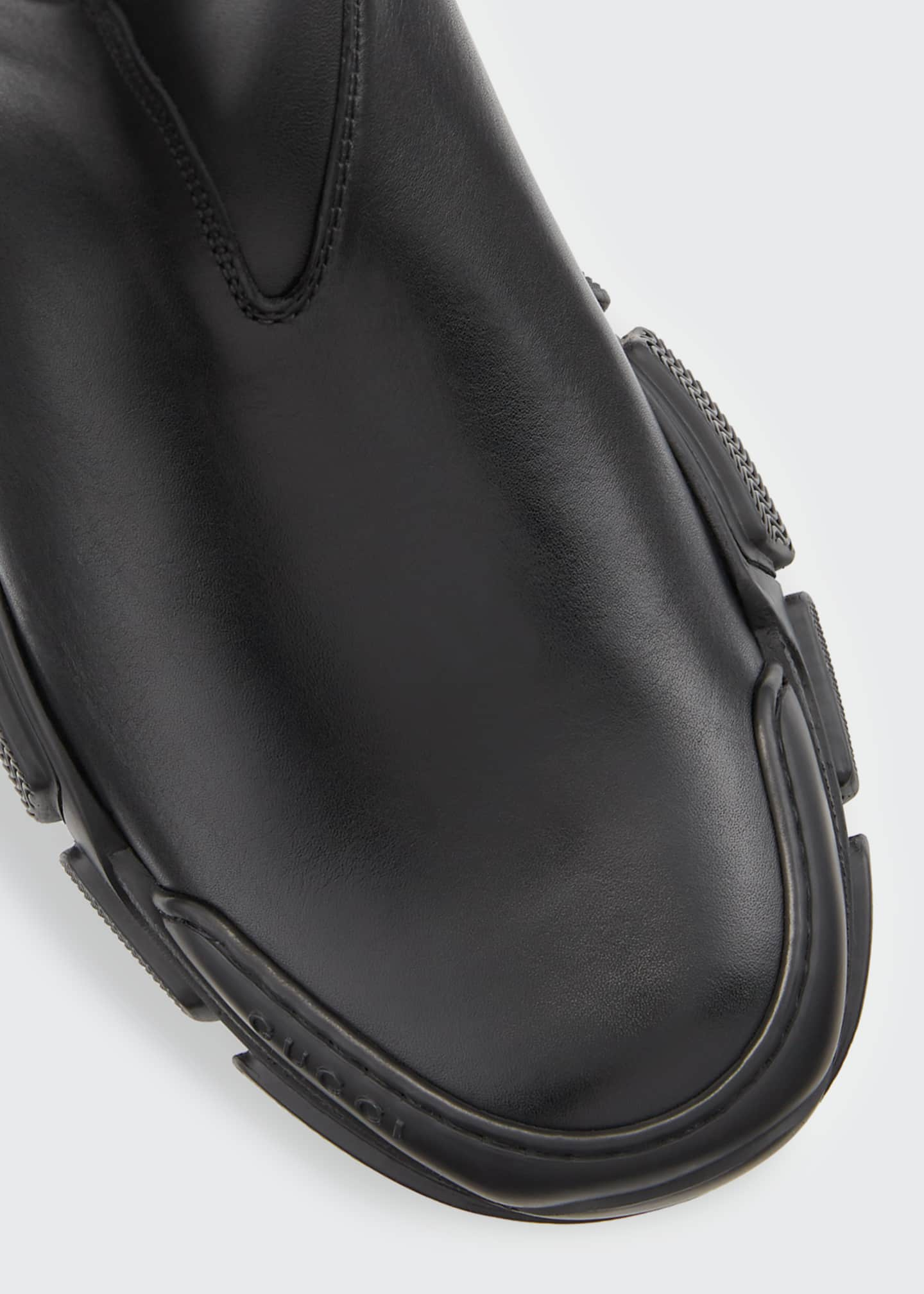 Image 3 of 3: Leon Leather Slip-On Booties