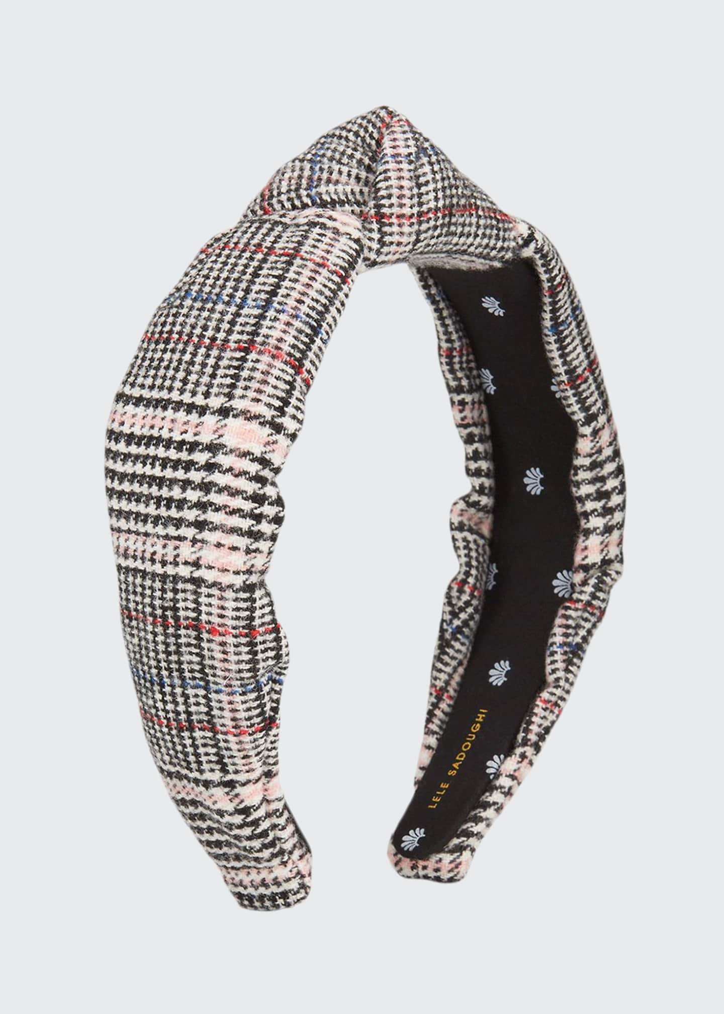 Lele Sadoughi Tweed Knotted Headband