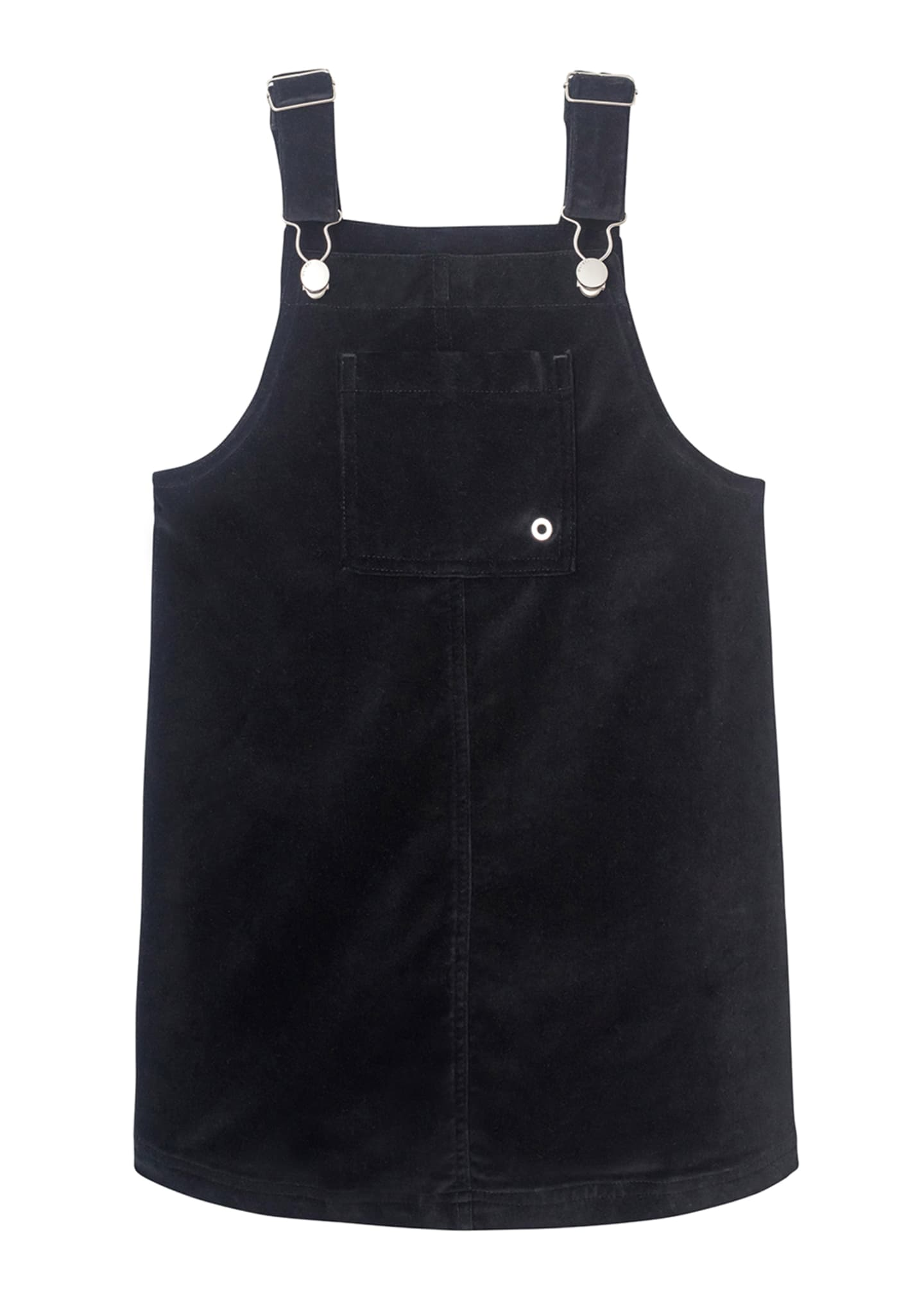 DL1961 Premium Denim Girl's Penelope Velvet Pinafore Dress,