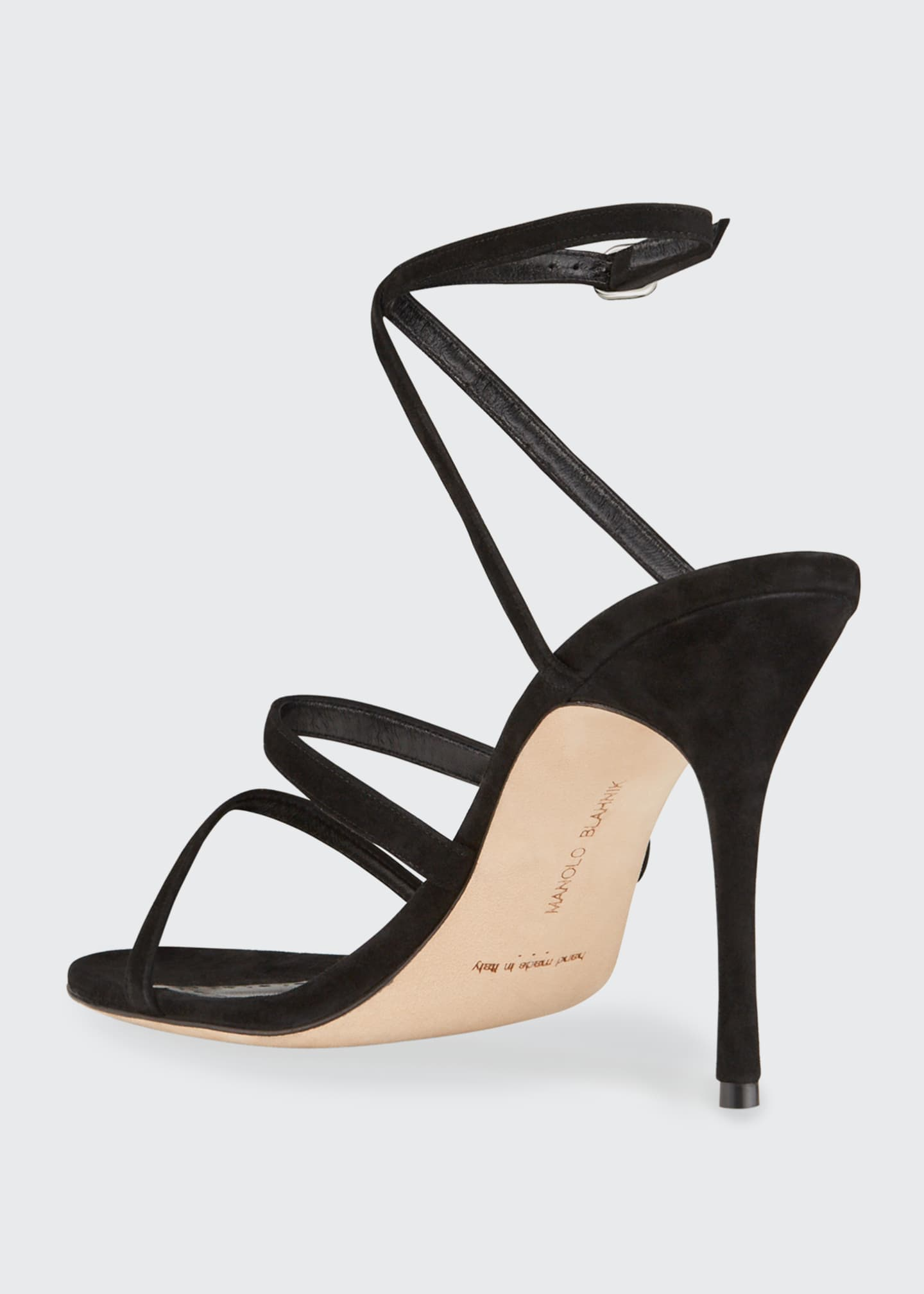 Image 2 of 3: Bacca Suede Strappy Stiletto Sandals