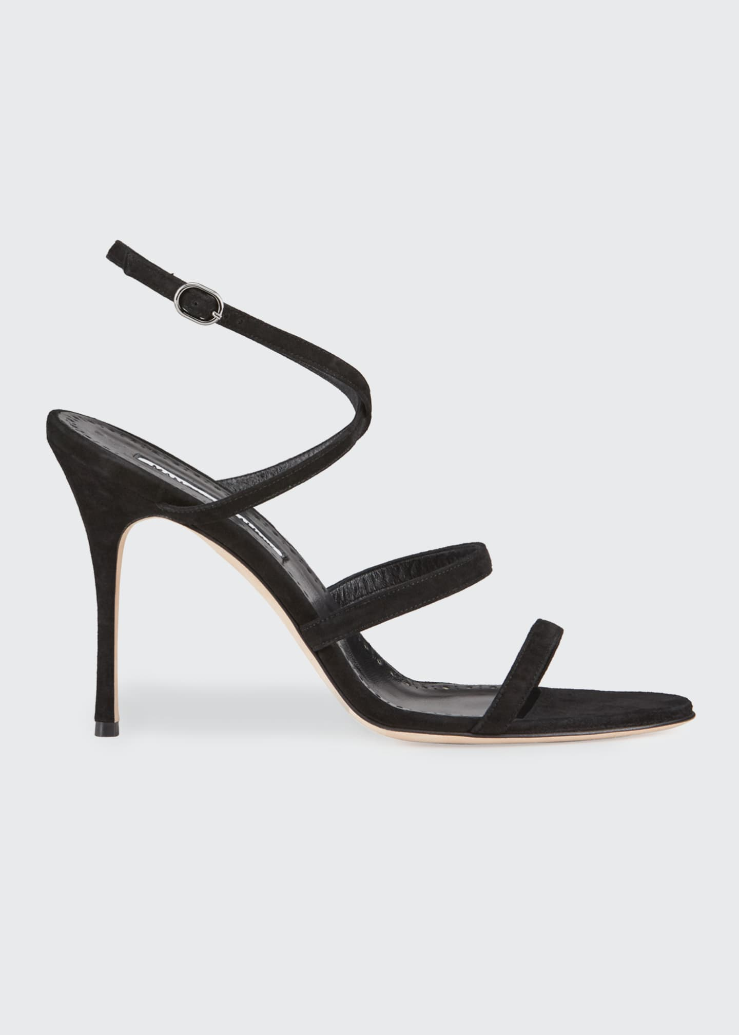 Image 1 of 3: Bacca Suede Strappy Stiletto Sandals