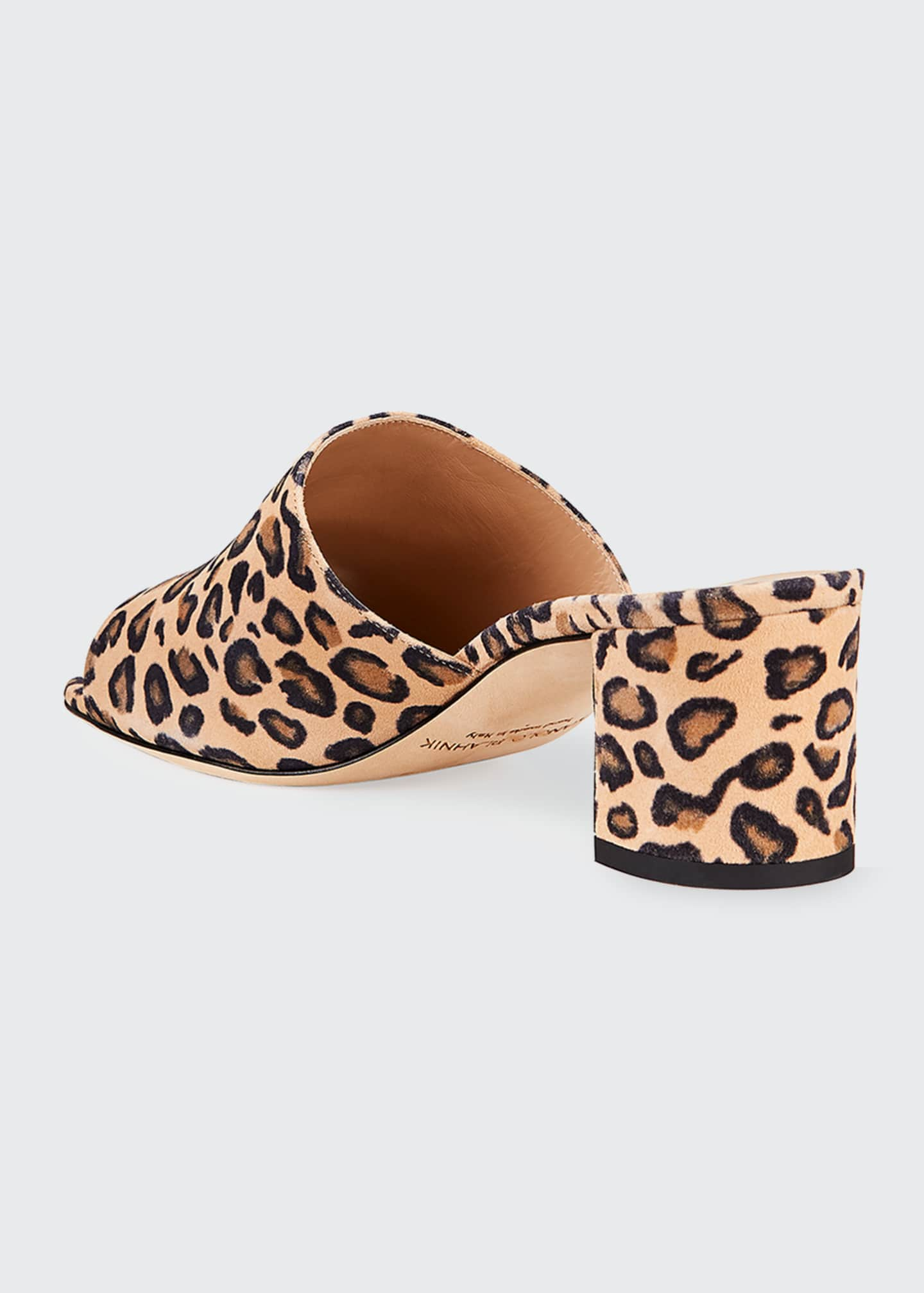 Image 2 of 3: Rapallato Leopard-Print Suede Slide Sandals
