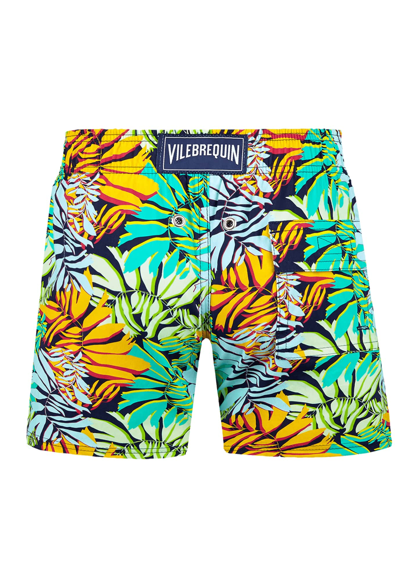Image 2 of 2: Boy's Jim Jungle Printed Superflex Swim Trunks, Size 2-14