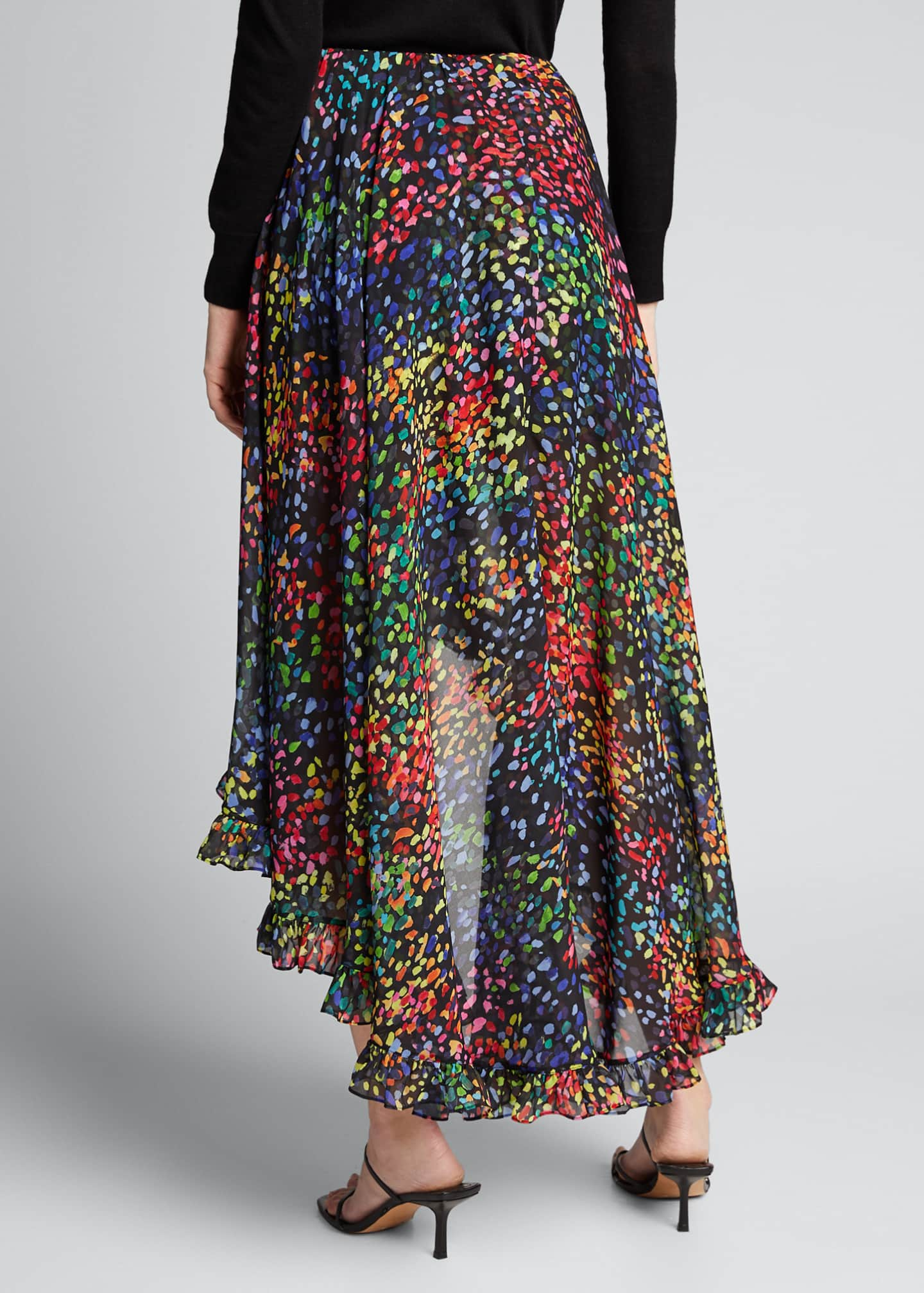 Image 2 of 5: Adelle Printed High-Low Skirt