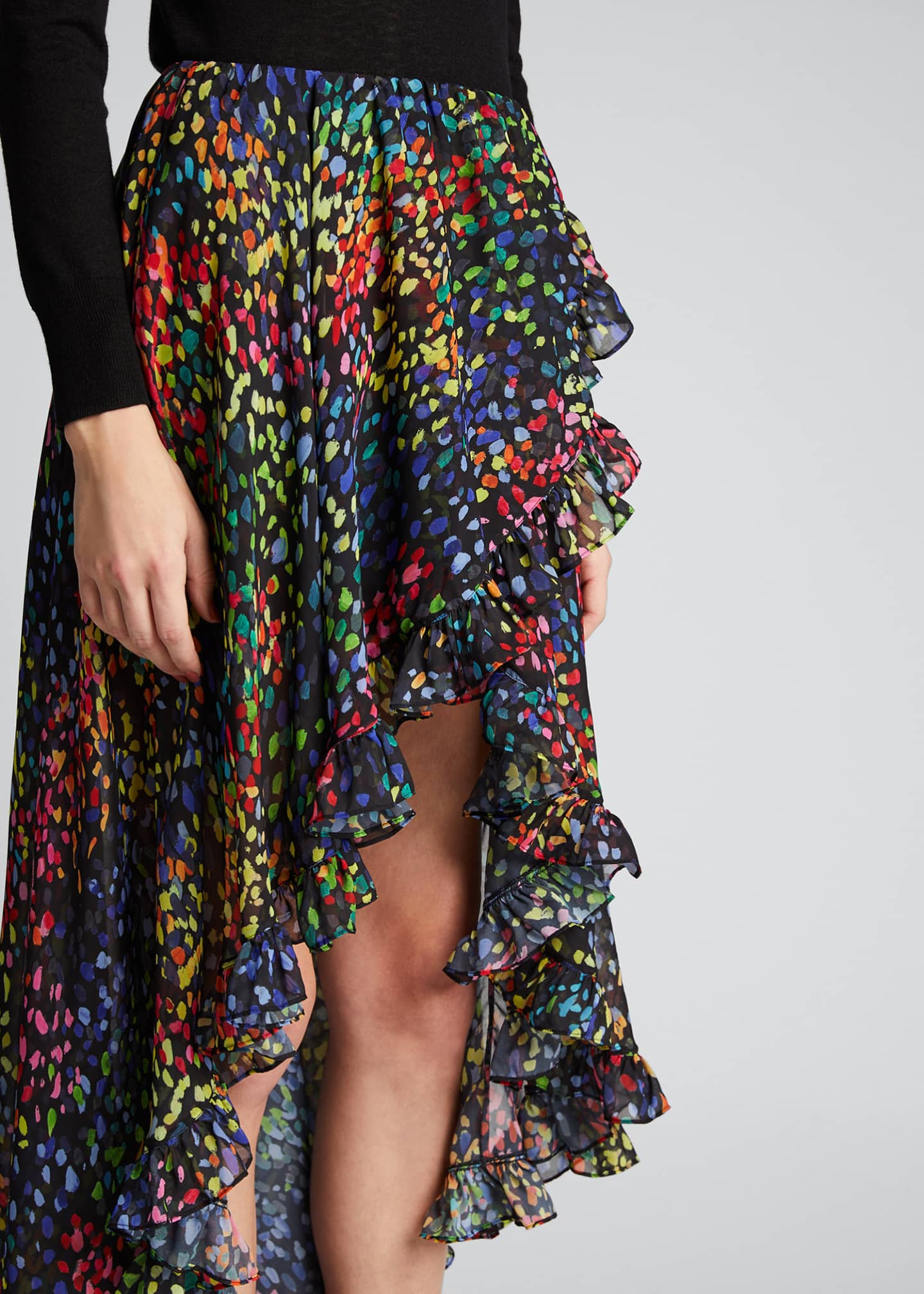 Image 4 of 5: Adelle Printed High-Low Skirt