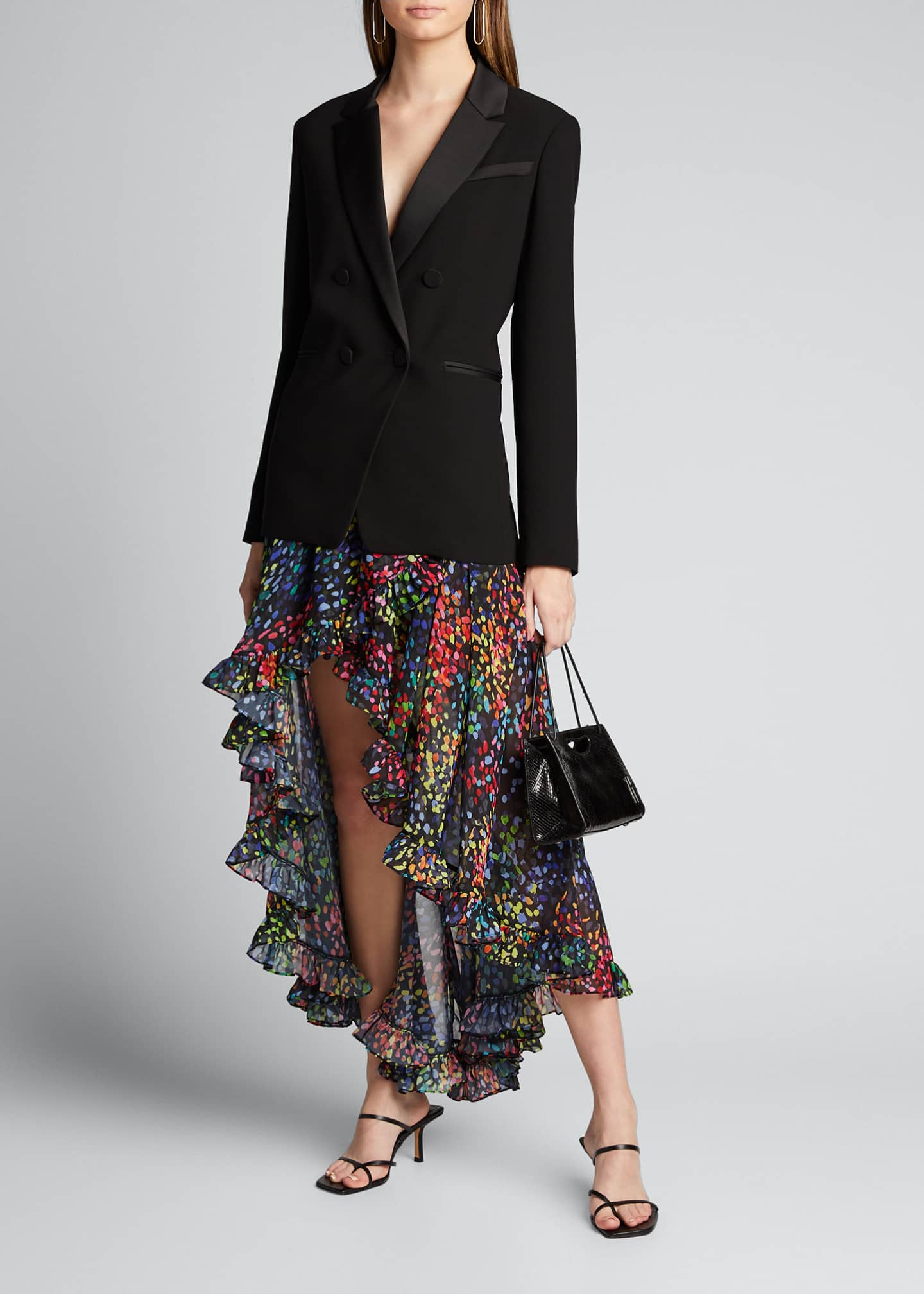 Image 1 of 5: Adelle Printed High-Low Skirt