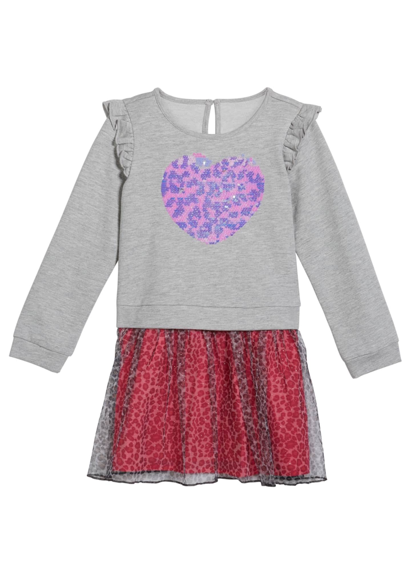 Design History Girls Girl's French Terry Flip Sequin