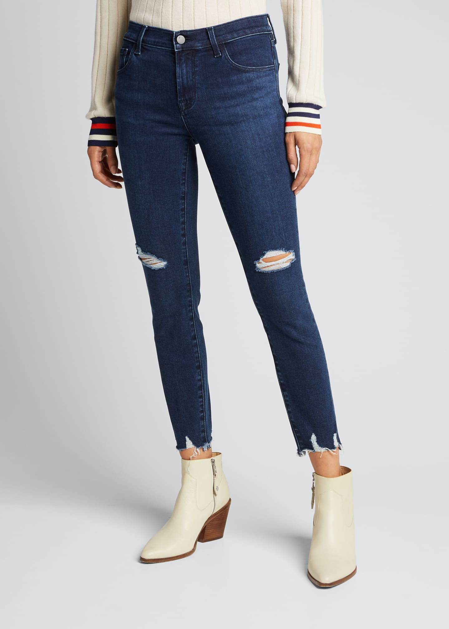 Image 3 of 5: 835 Mid-Rise Cropped Skinny Jeans