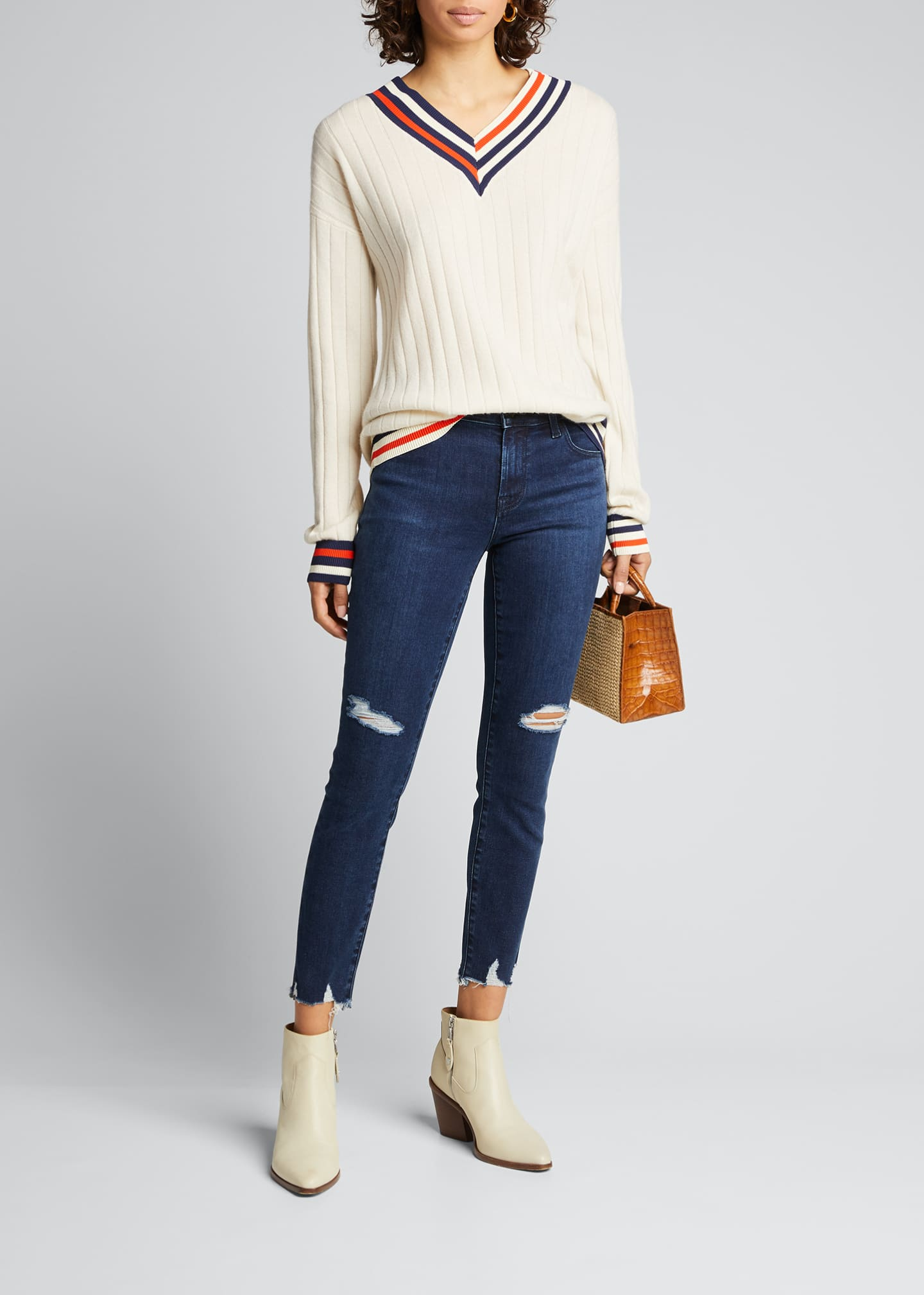 Image 1 of 5: 835 Mid-Rise Cropped Skinny Jeans