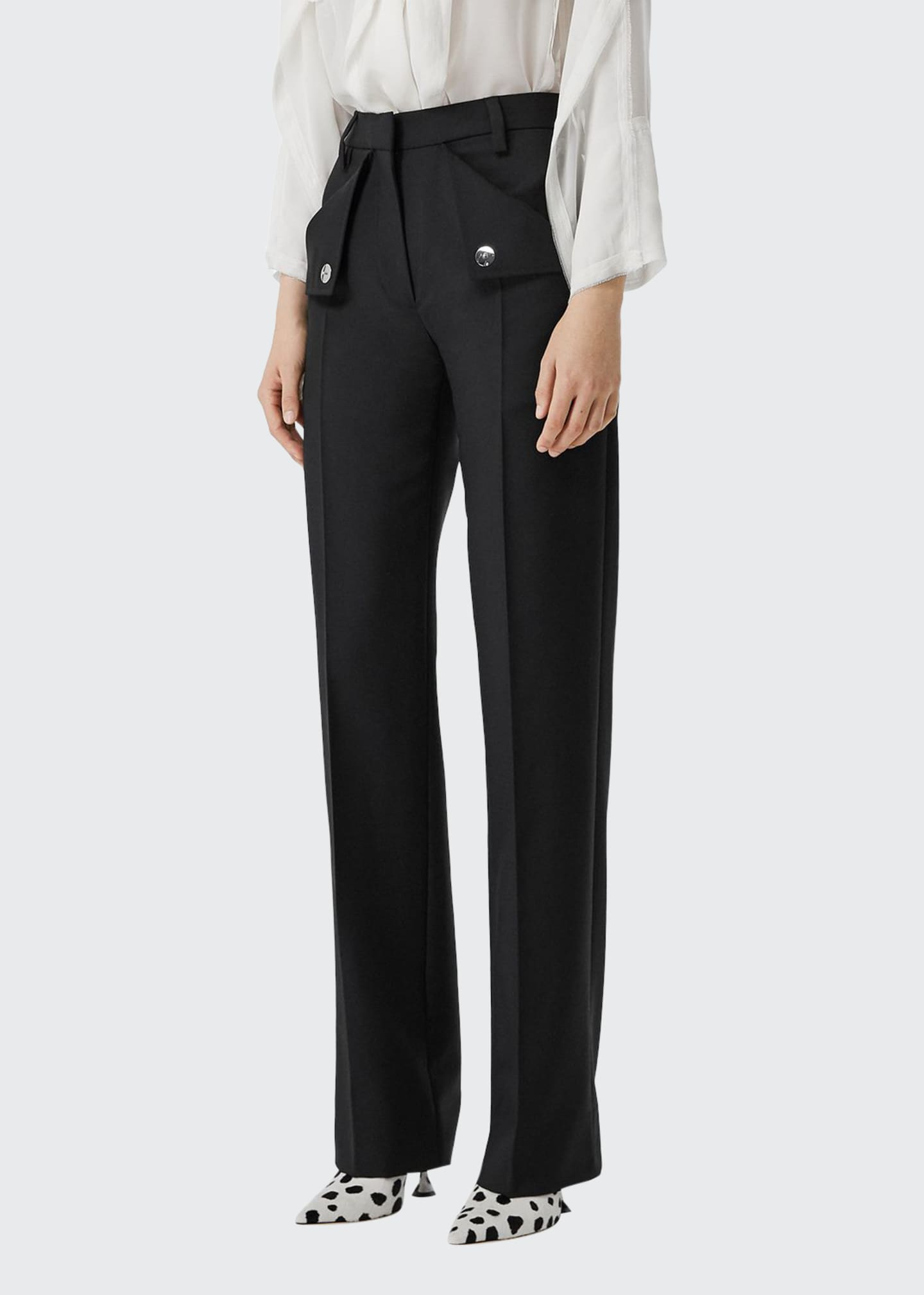 Burberry Zohra Wool Trousers