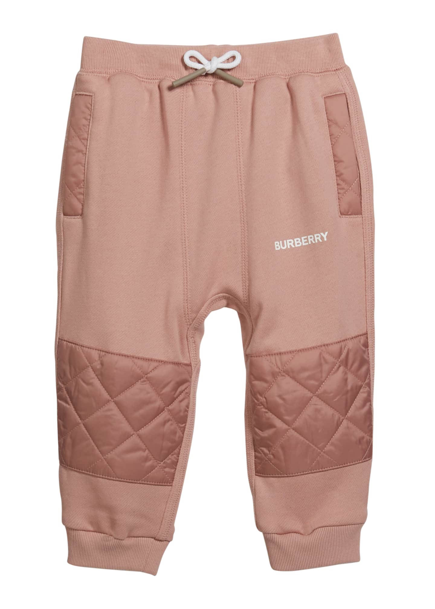Image 1 of 1: Girl's Mio Drawstring Sweatpants w/ Quilted Insets, Size 12M-2