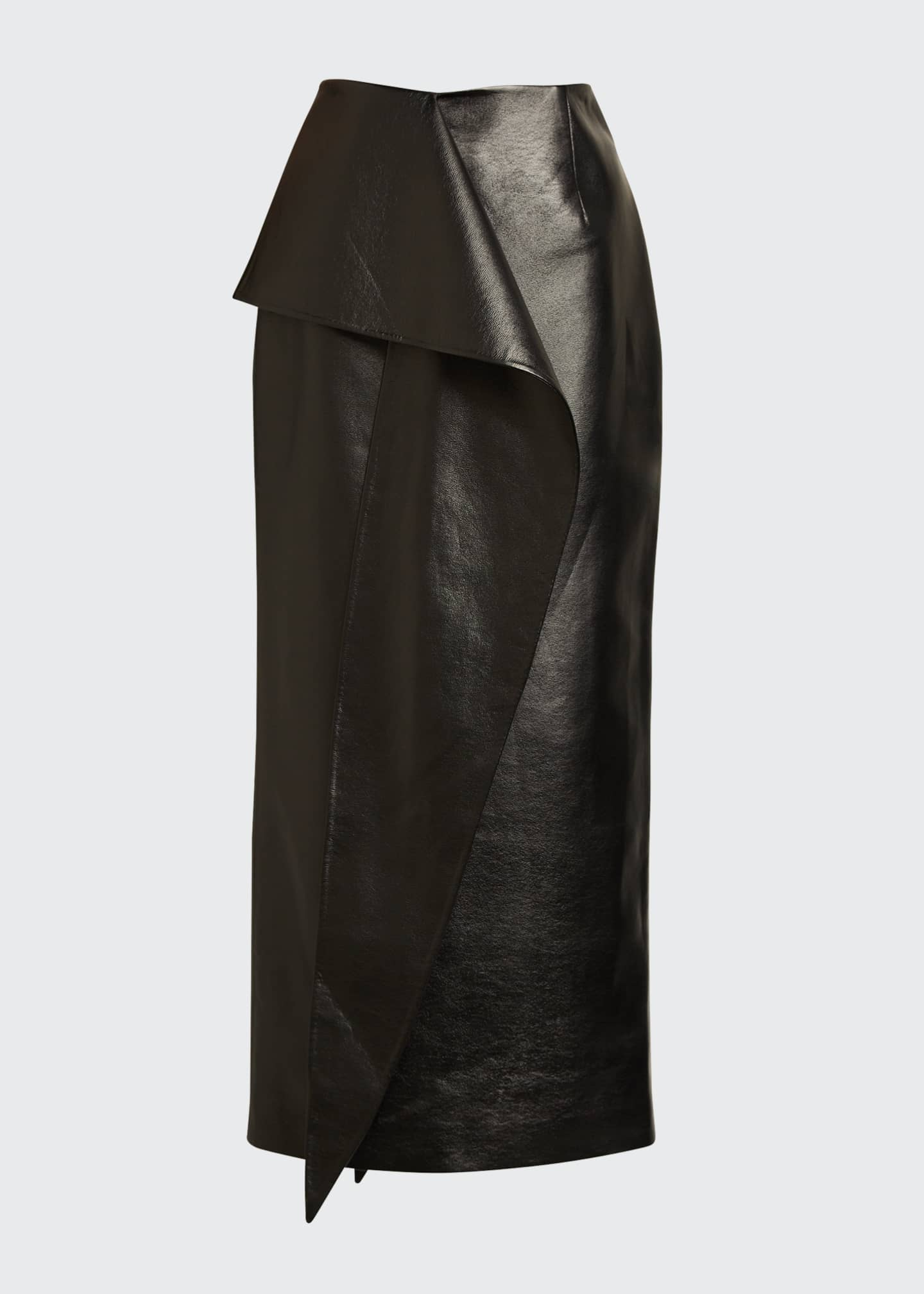 Image 5 of 5: Tie-Waist Faux-Leather Skirt