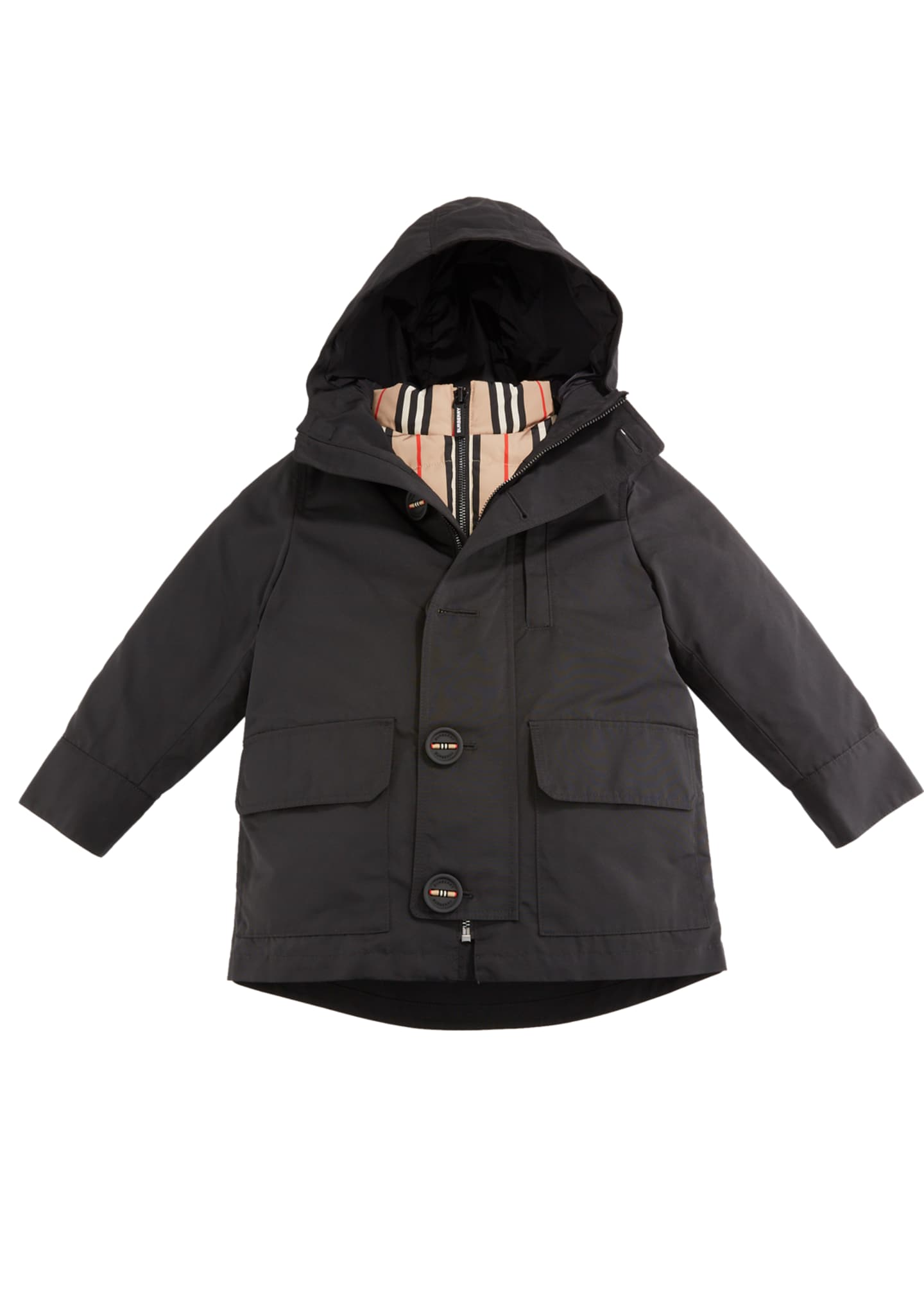 Burberry Boy's Rowan 3-in-1 Parka w/ Removable Icon