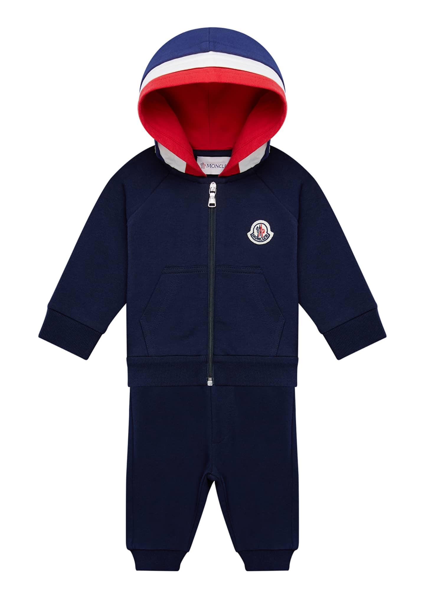Moncler Boy's Molleton Hooded Jacket w/ Sweatpants, Size