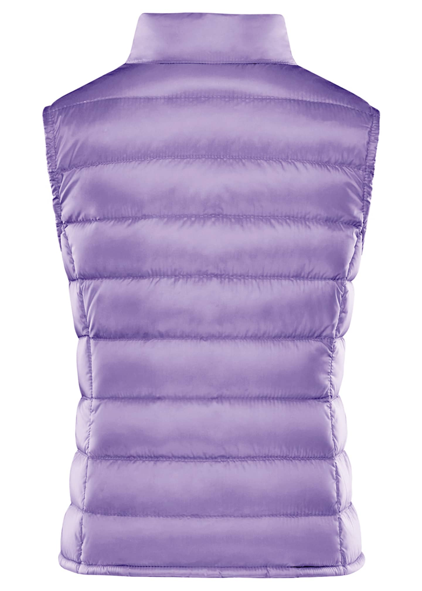 Image 2 of 2: Girl's Liane Quilted Snap Front Vest, Size 8-14