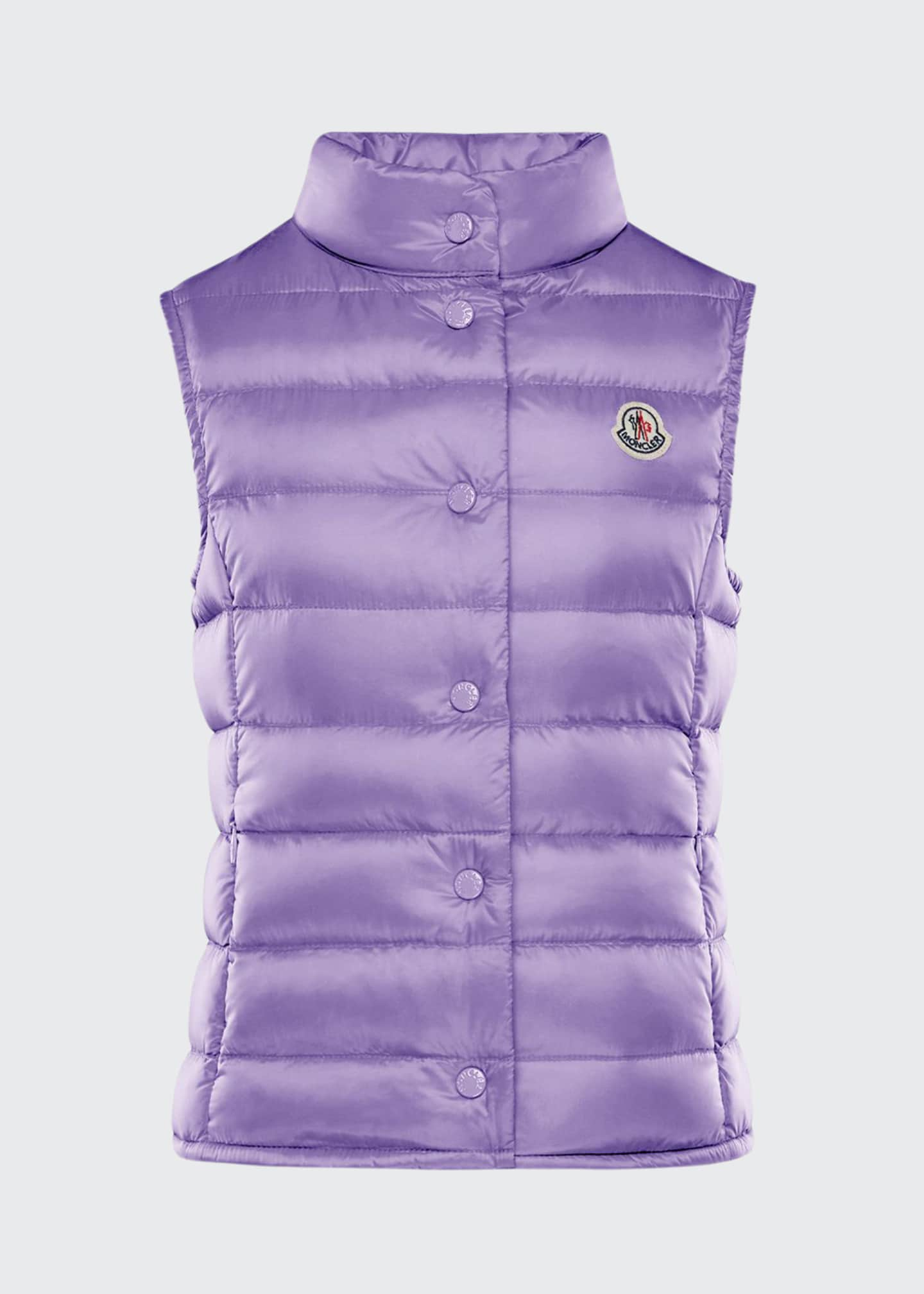 Image 1 of 2: Girl's Liane Quilted Snap Front Vest, Size 8-14