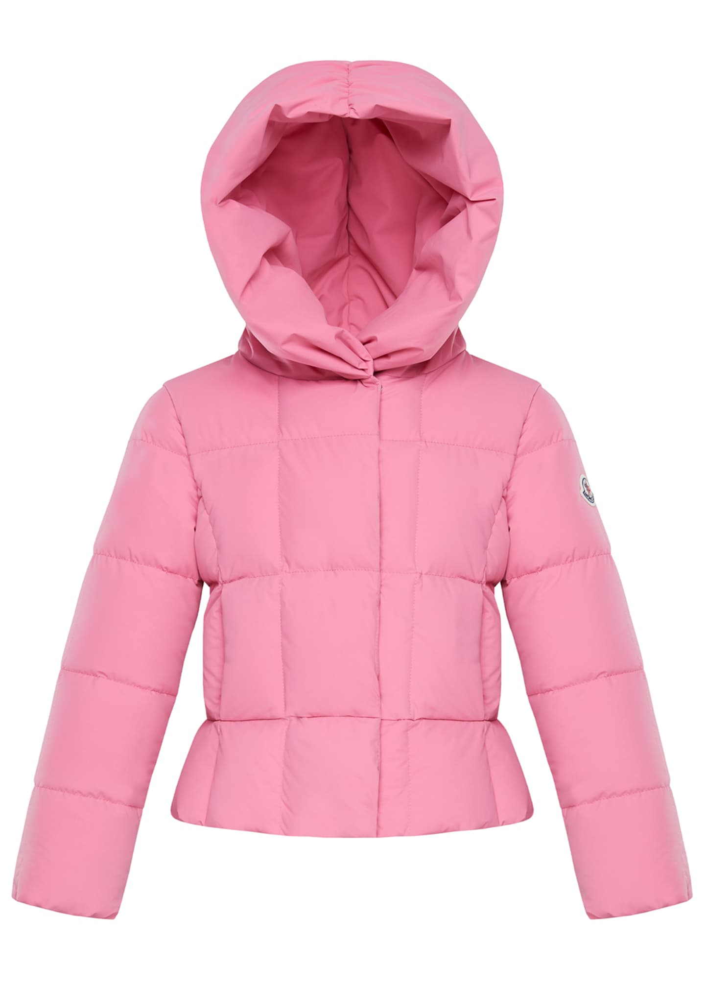 Moncler Girl's Giroflee Stretch Tech Hooded Jacket, Size