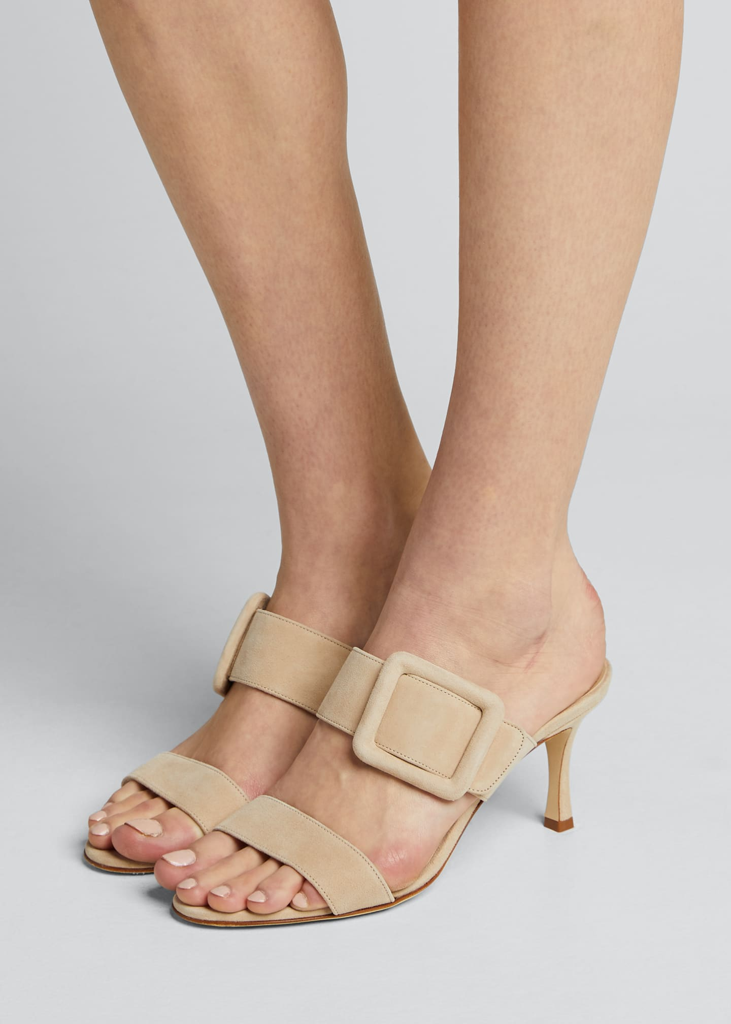 Image 2 of 5: Gable Suede Slide Heeled Sandals