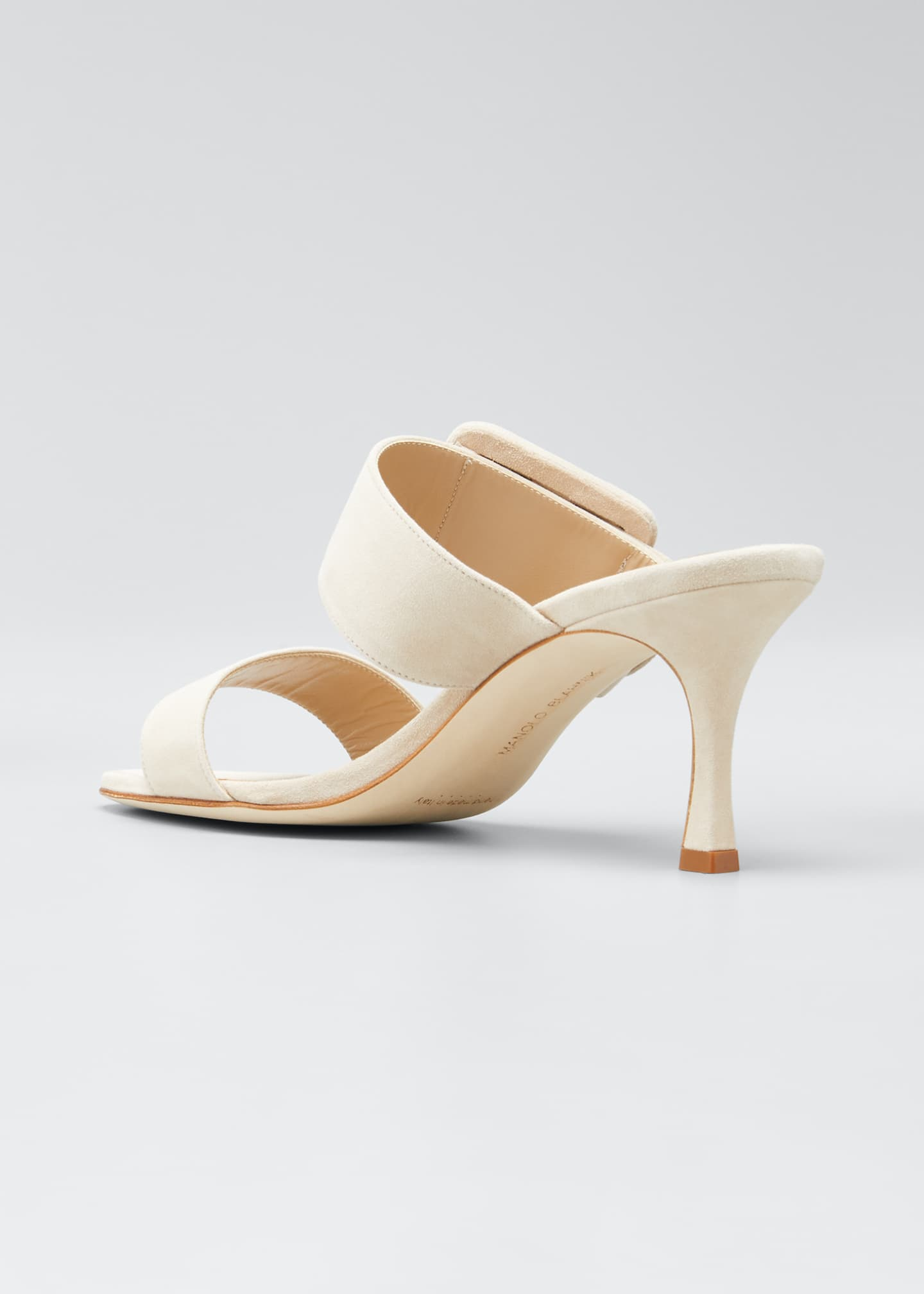 Image 4 of 5: Gable Suede Slide Heeled Sandals
