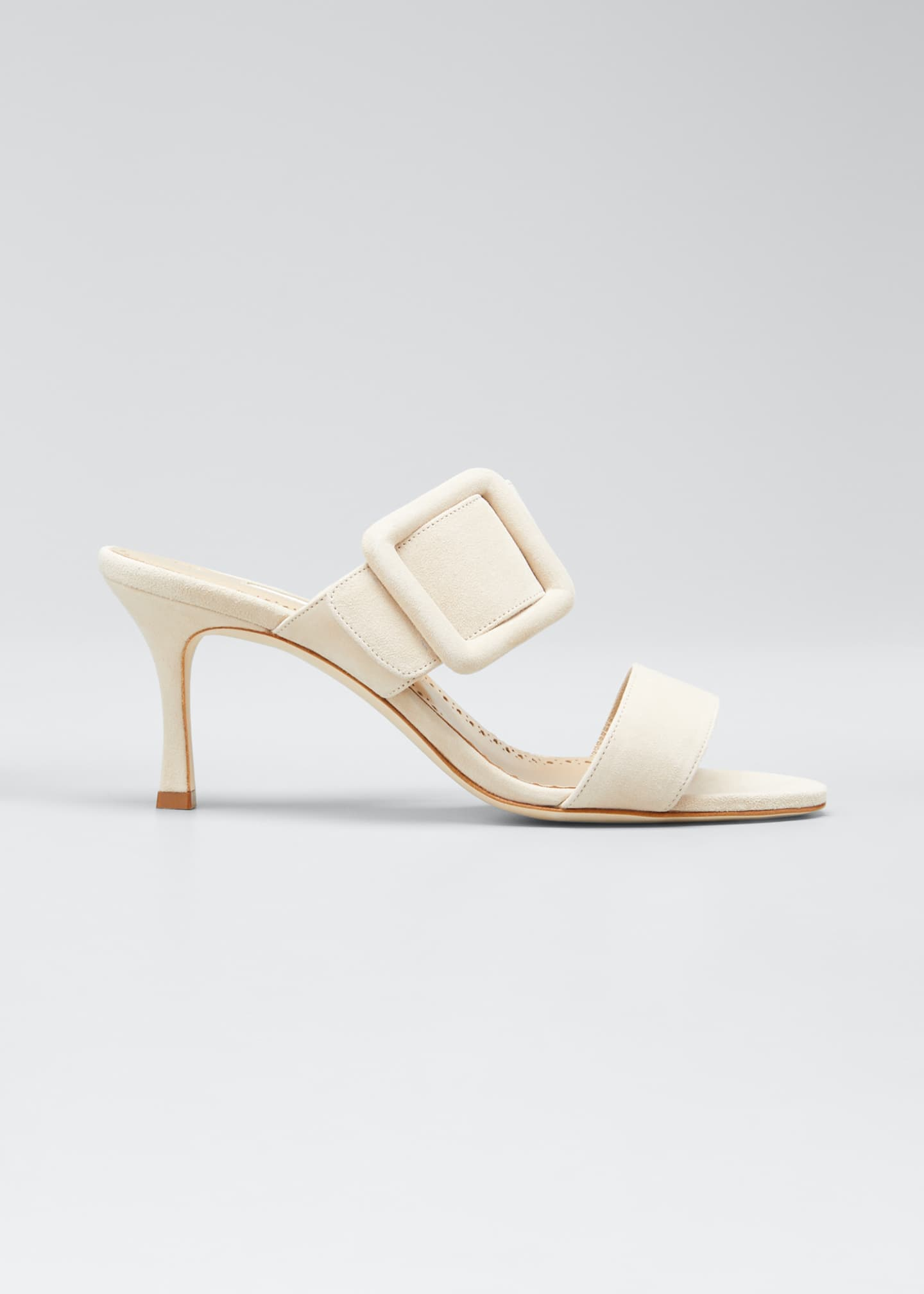 Image 1 of 5: Gable Suede Slide Heeled Sandals