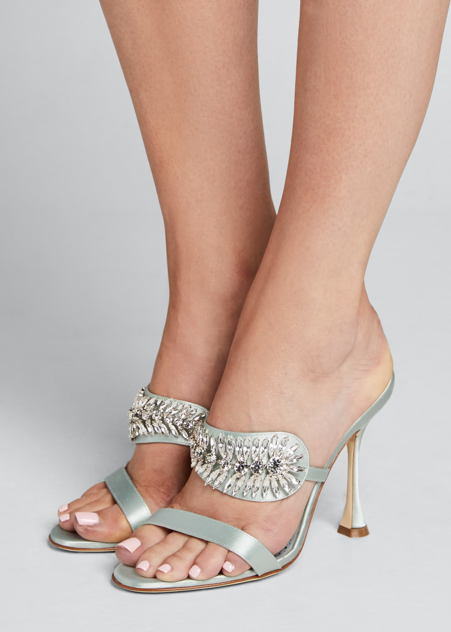 Image 2 of 5: Skysan Satin Crystal Sandals