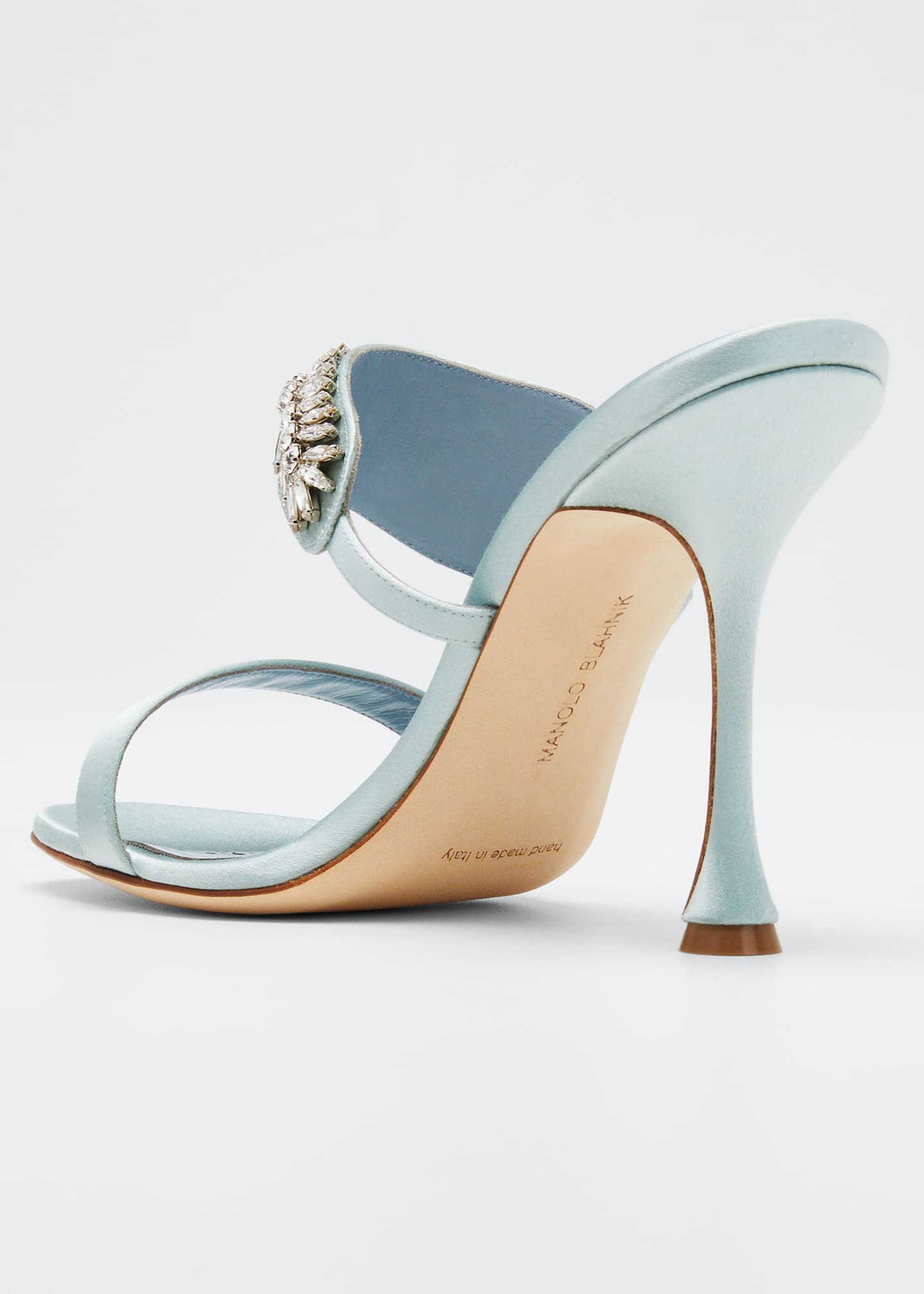 Image 4 of 5: Skysan Satin Crystal Sandals