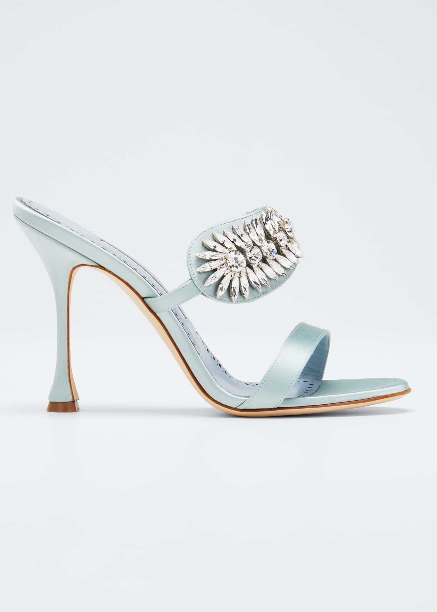 Image 1 of 5: Skysan Satin Crystal Sandals