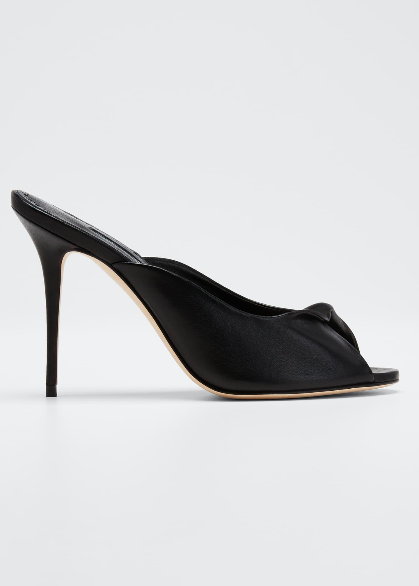 Manolo Blahnik Aliar Leather Slide Sandals