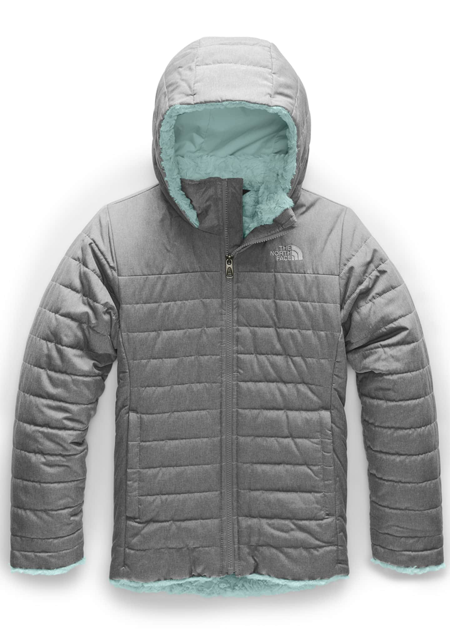The North Face Girl's Mossbud Swirl Parka Jacket,