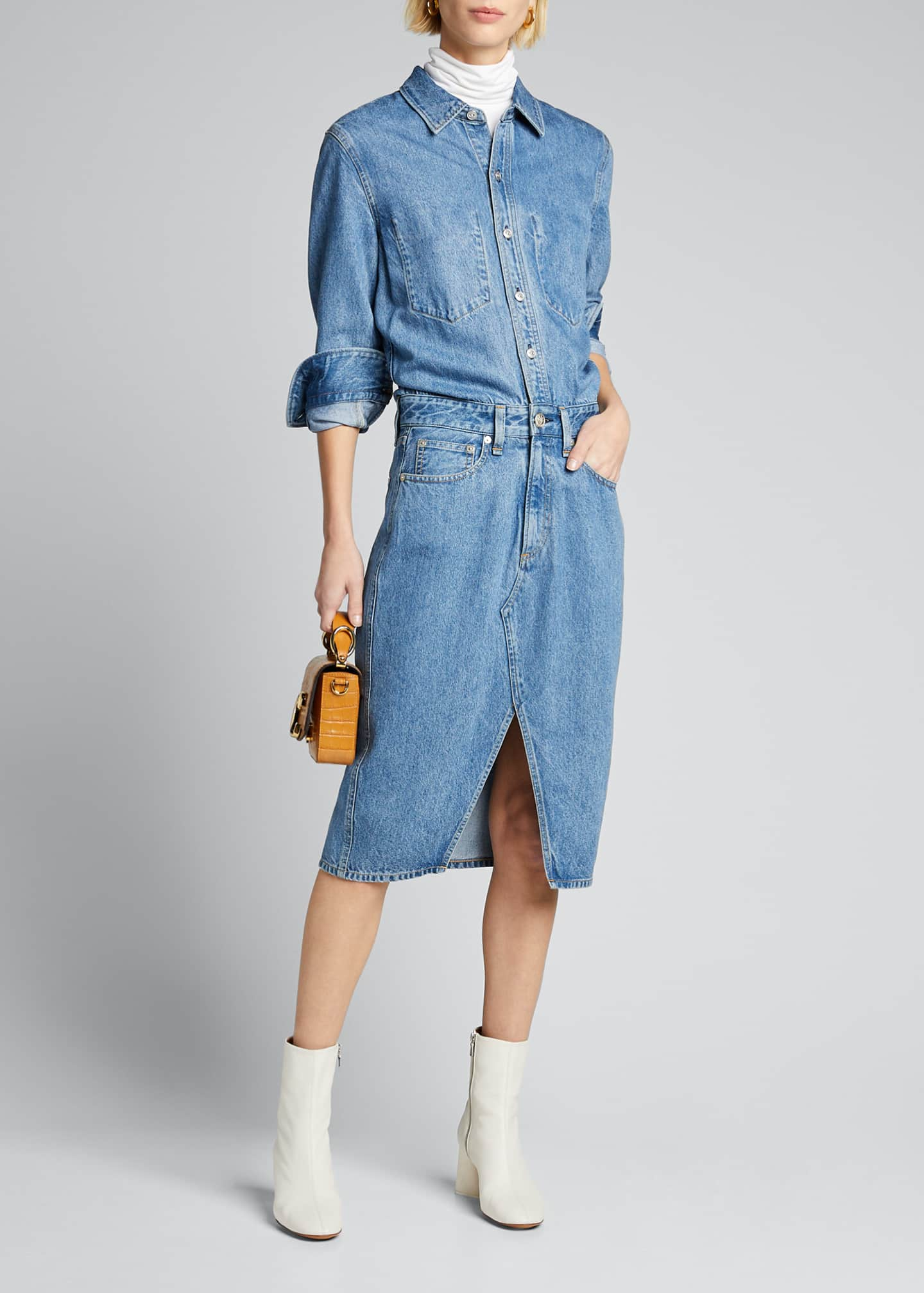 Rag & Bone All In One Denim Shirtdress