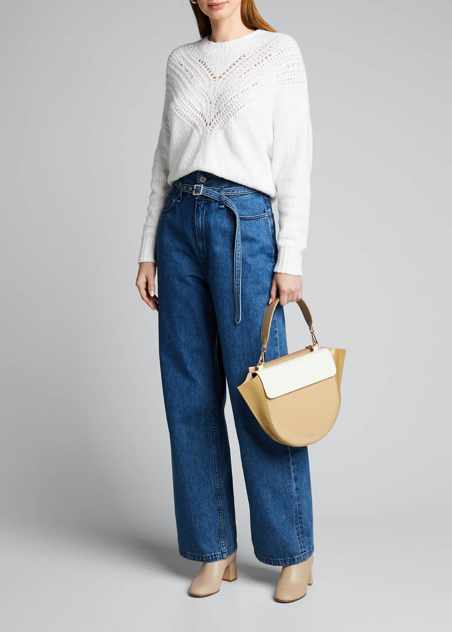 Rag & Bone High-Rise Paperbag Jeans