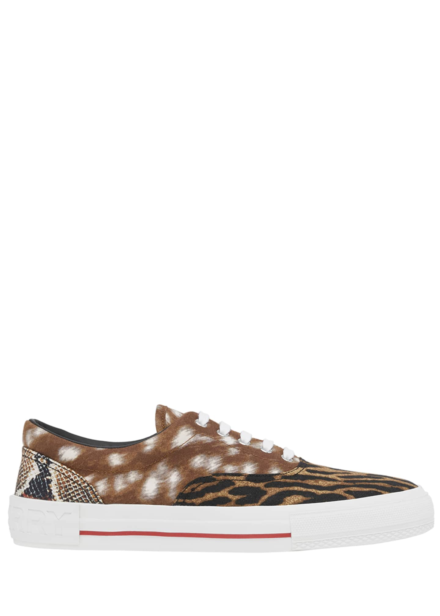 Image 2 of 4: Men's Mixed Animal-Print Skate Sneakers