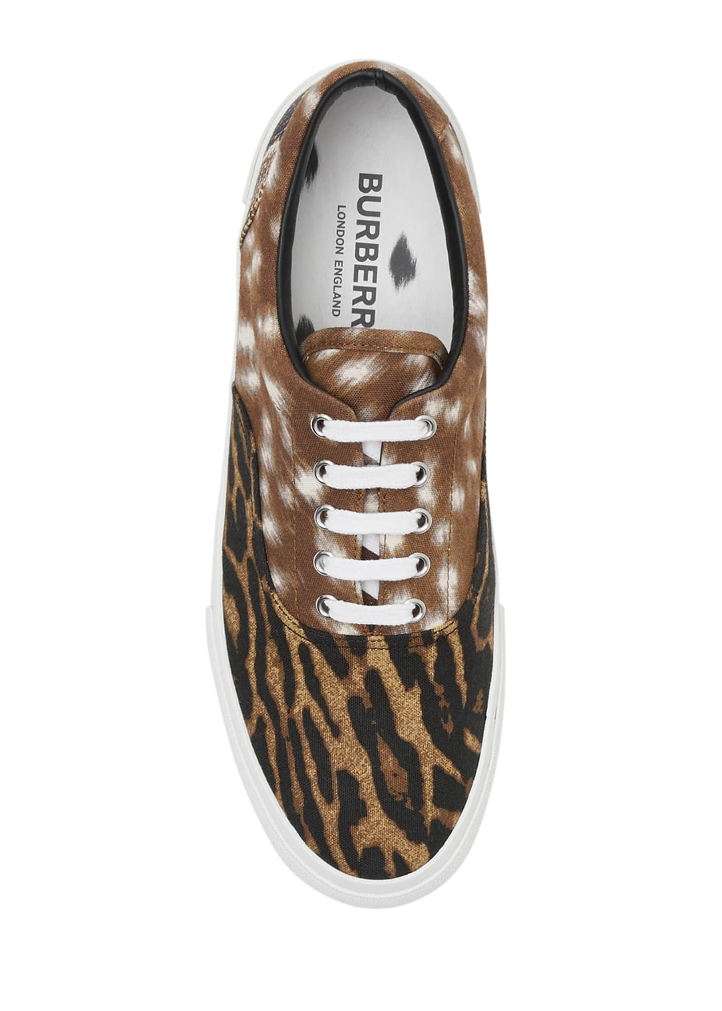 Image 3 of 4: Men's Mixed Animal-Print Skate Sneakers