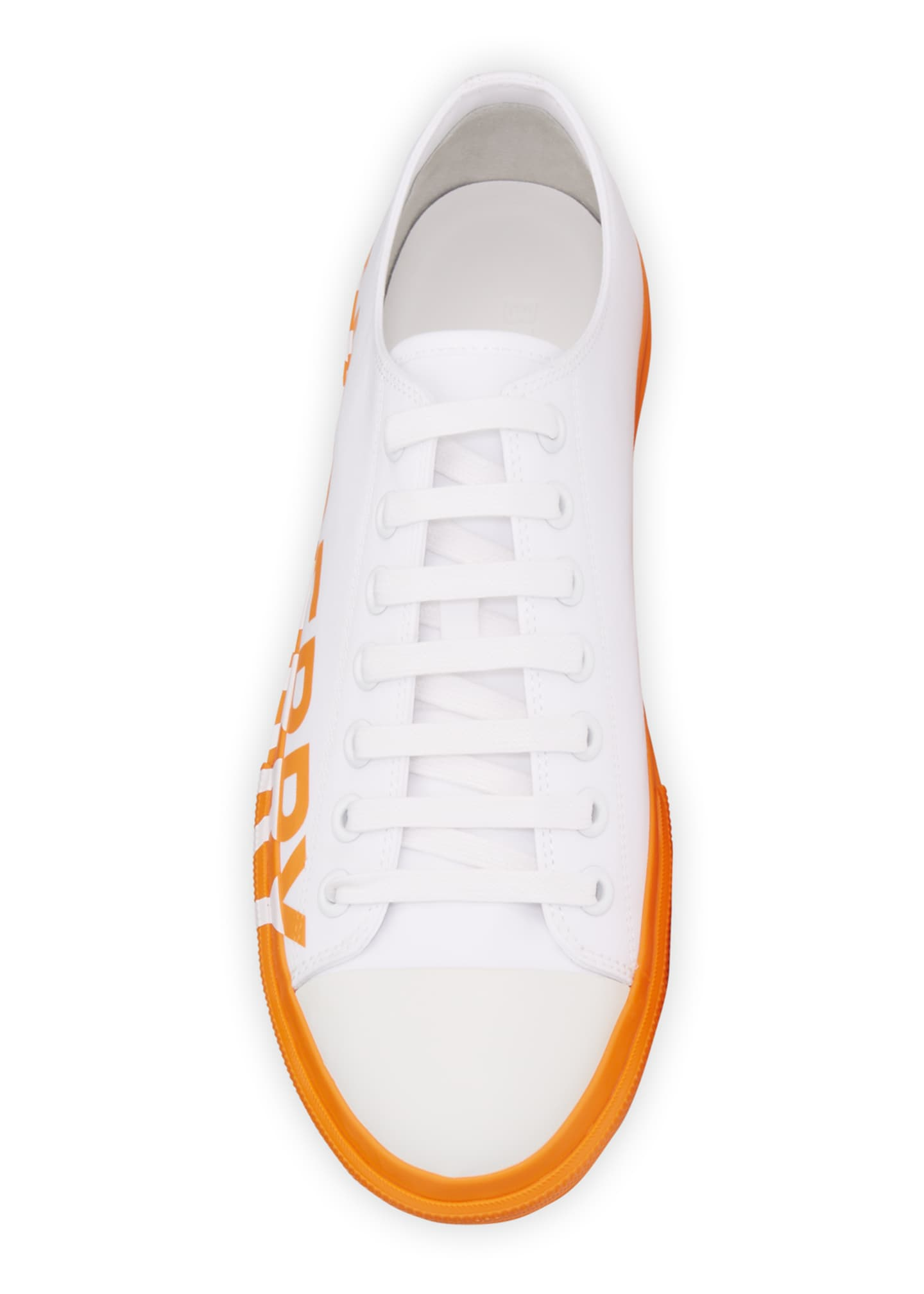 Image 2 of 4: Men's Larkhall Two-Tone Canvas Logo Sneakers