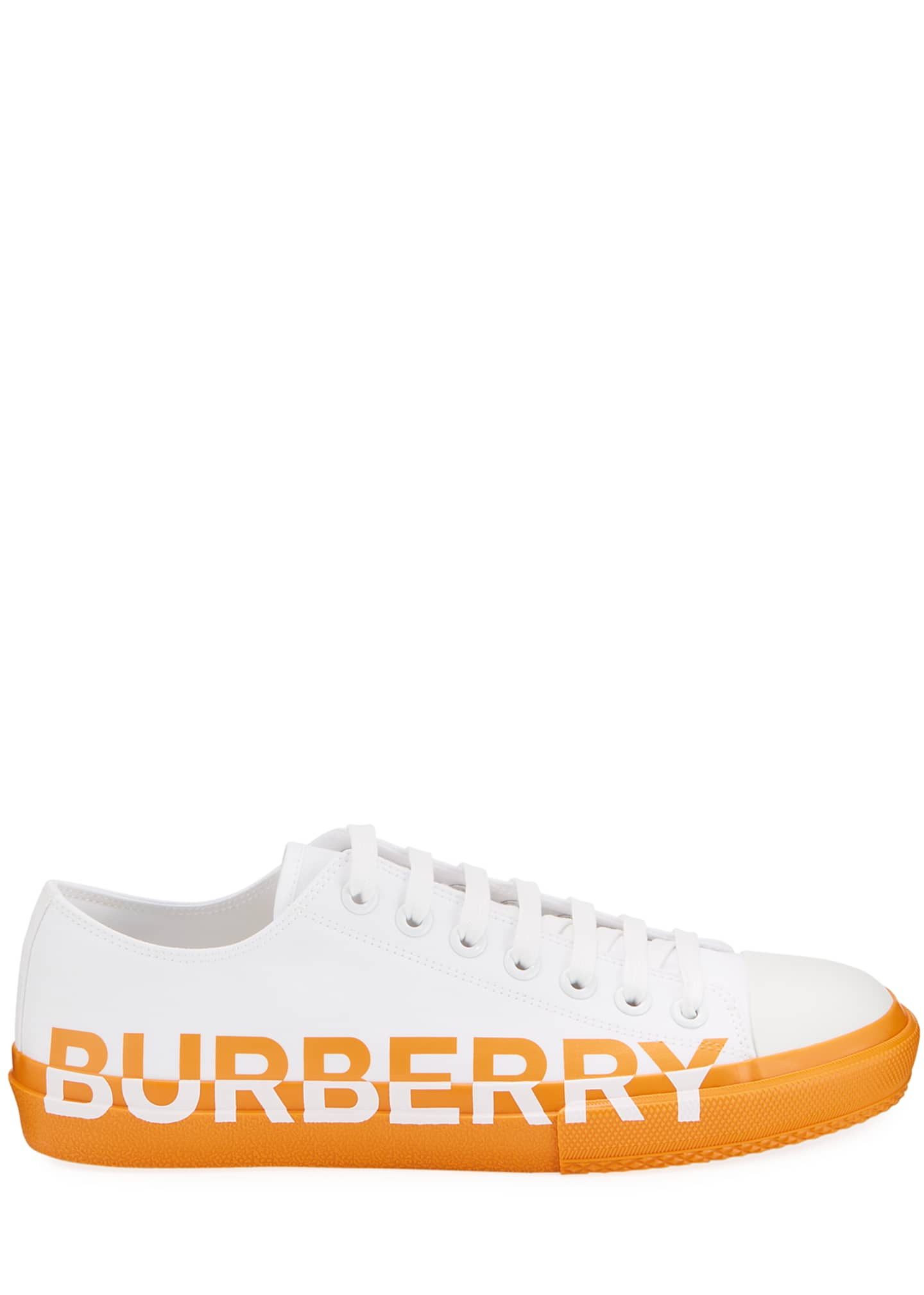 Image 3 of 4: Men's Larkhall Two-Tone Canvas Logo Sneakers