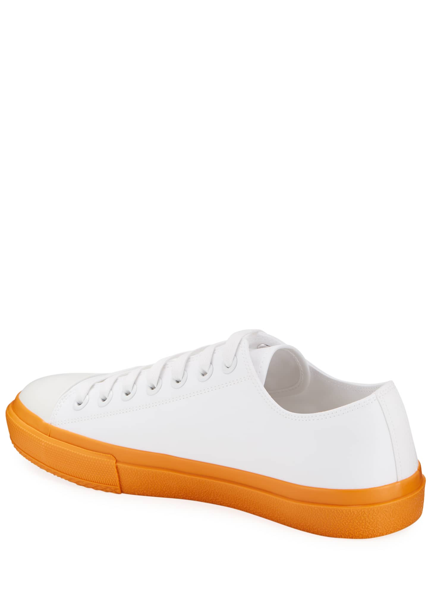 Image 4 of 4: Men's Larkhall Two-Tone Canvas Logo Sneakers