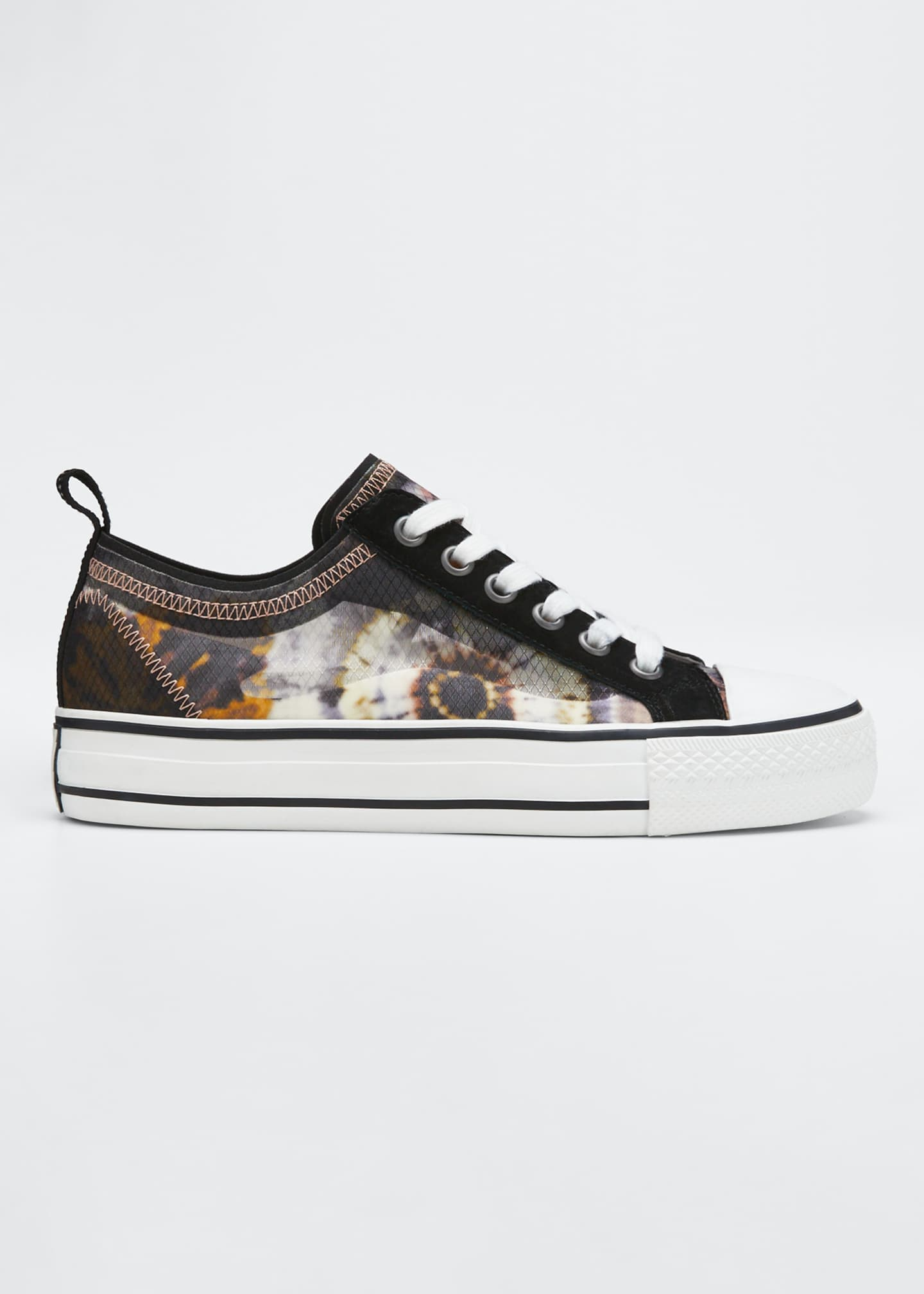 Ash Vertu Floral-Print Court Sneakers