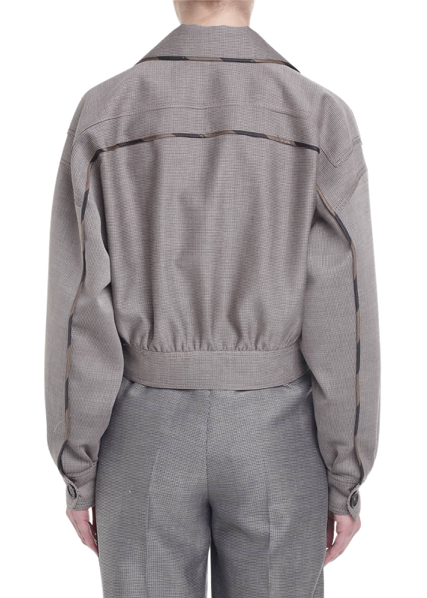 Image 2 of 2: Cropped Drop-Shoulder Menswear Jacket