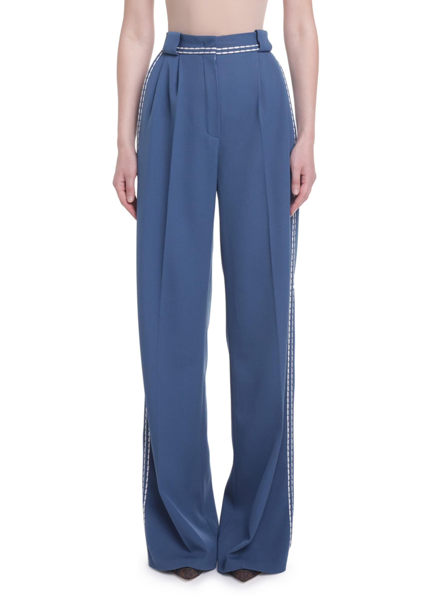 Fendi High-Rise Pleated Front Pants