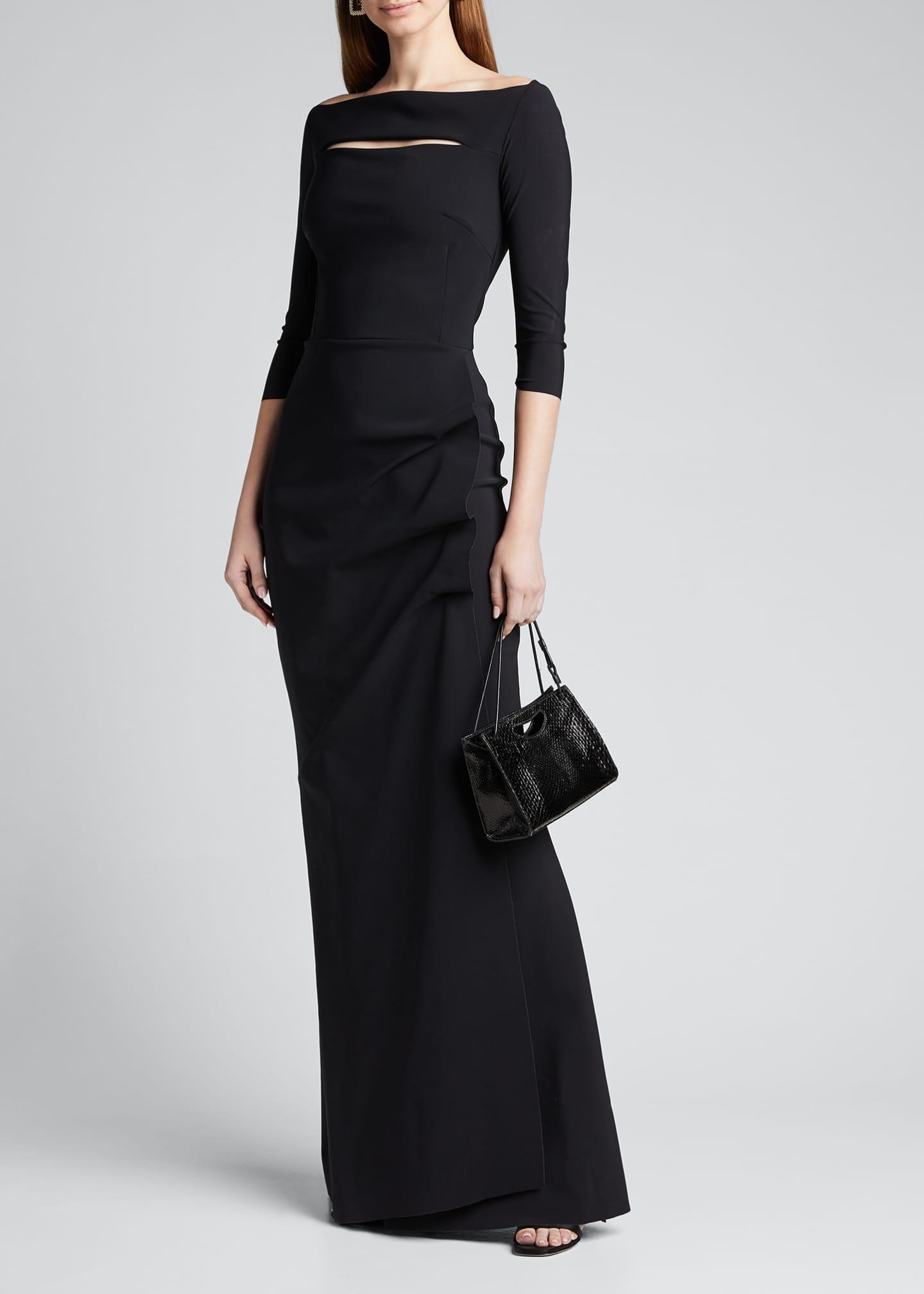Chiara Boni La Petite Robe Kate Long-Sleeve Gathered