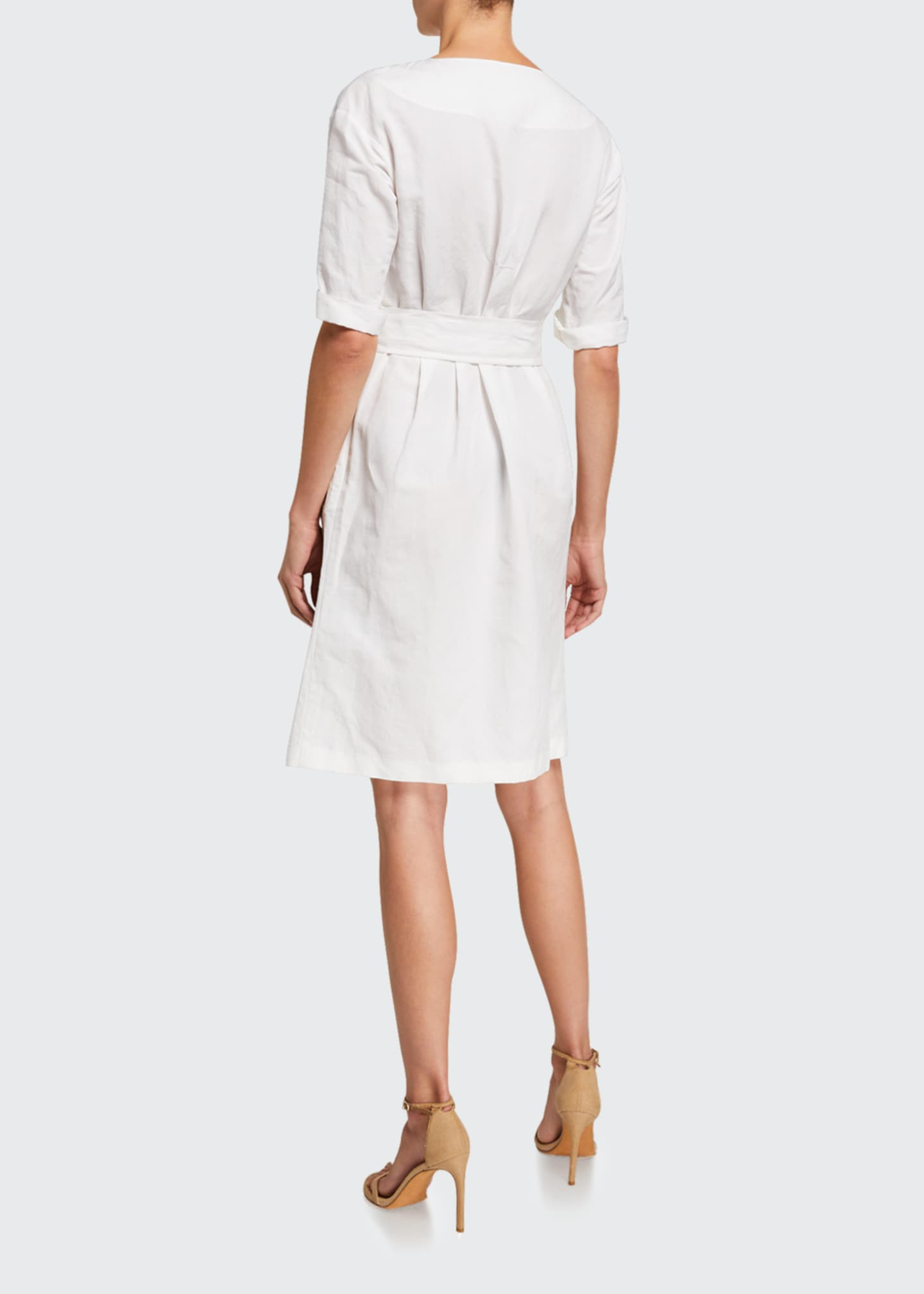 Image 2 of 2: Quirnale Woven Button-Front Short-Sleeve Dress