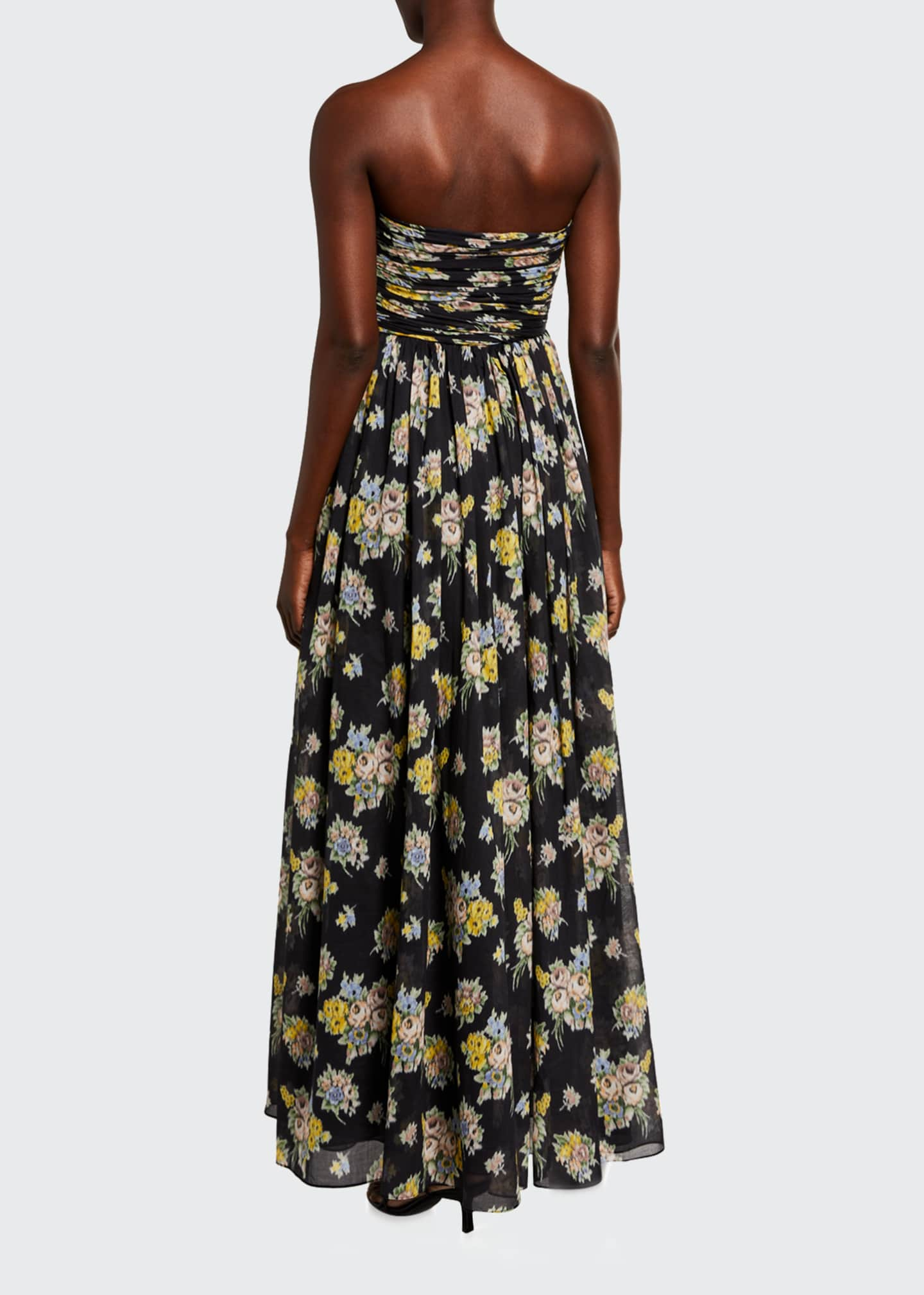 Image 2 of 2: Quintafoglia Strapless Maxi Dress